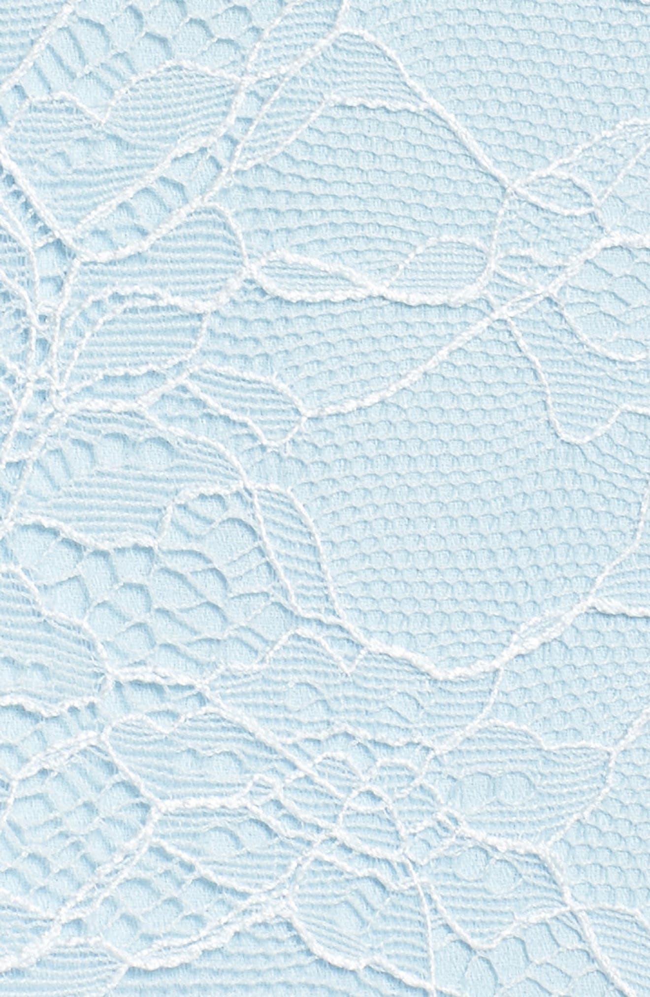 The Adella Lace Gown,                             Alternate thumbnail 6, color,                             PALE BLUE