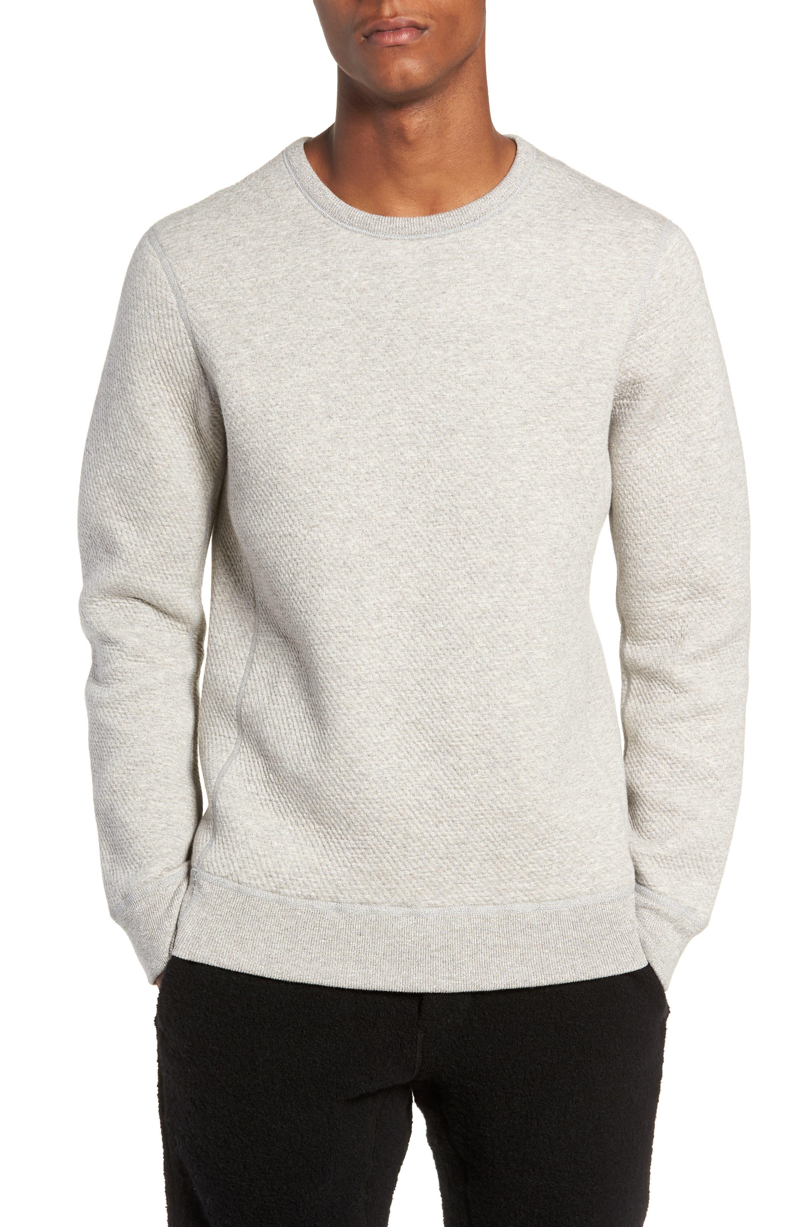 Cabin Fleece Sweatshirt,                             Main thumbnail 1, color,                             CONCRETE