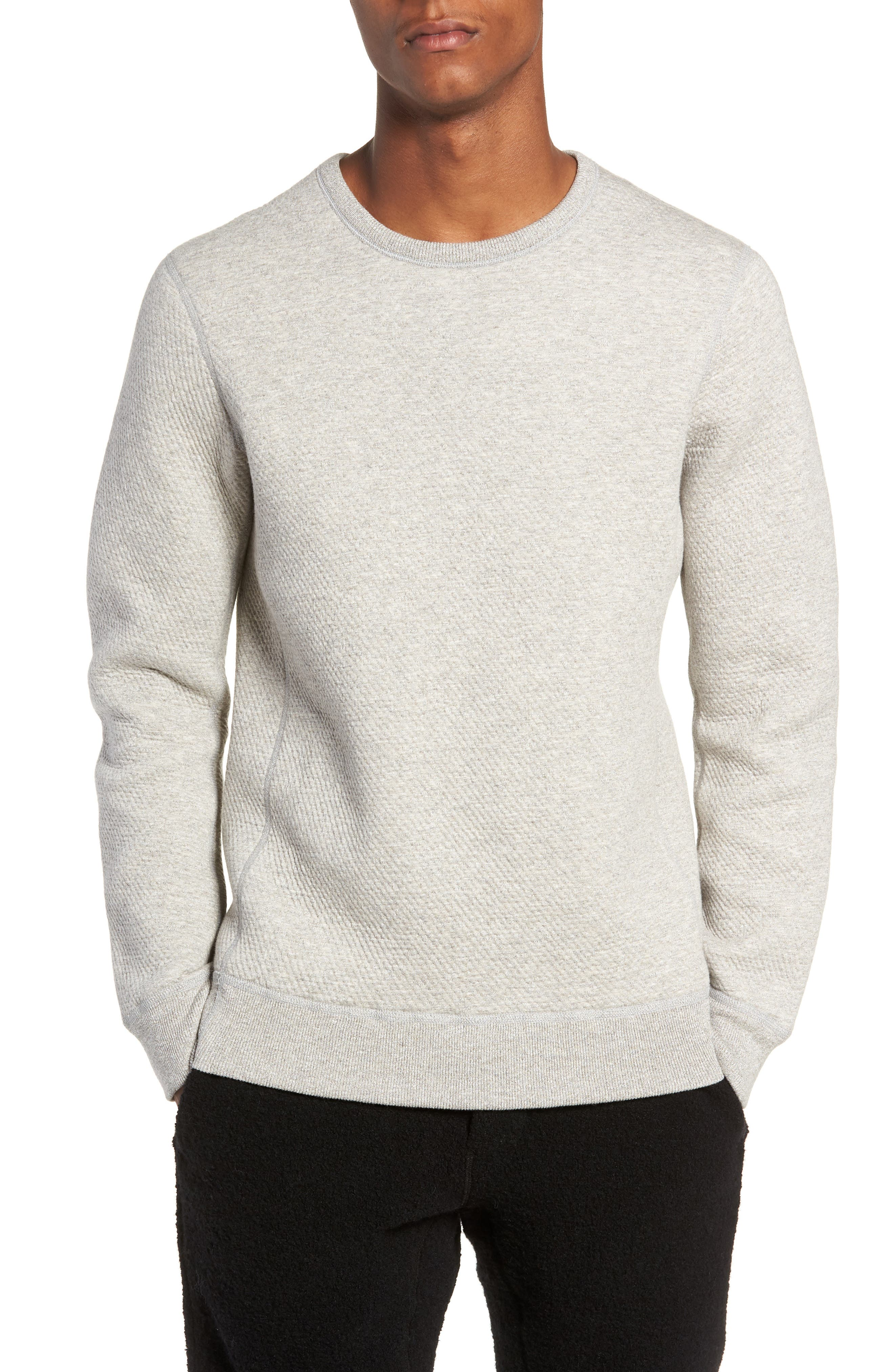Cabin Fleece Sweatshirt,                         Main,                         color, CONCRETE