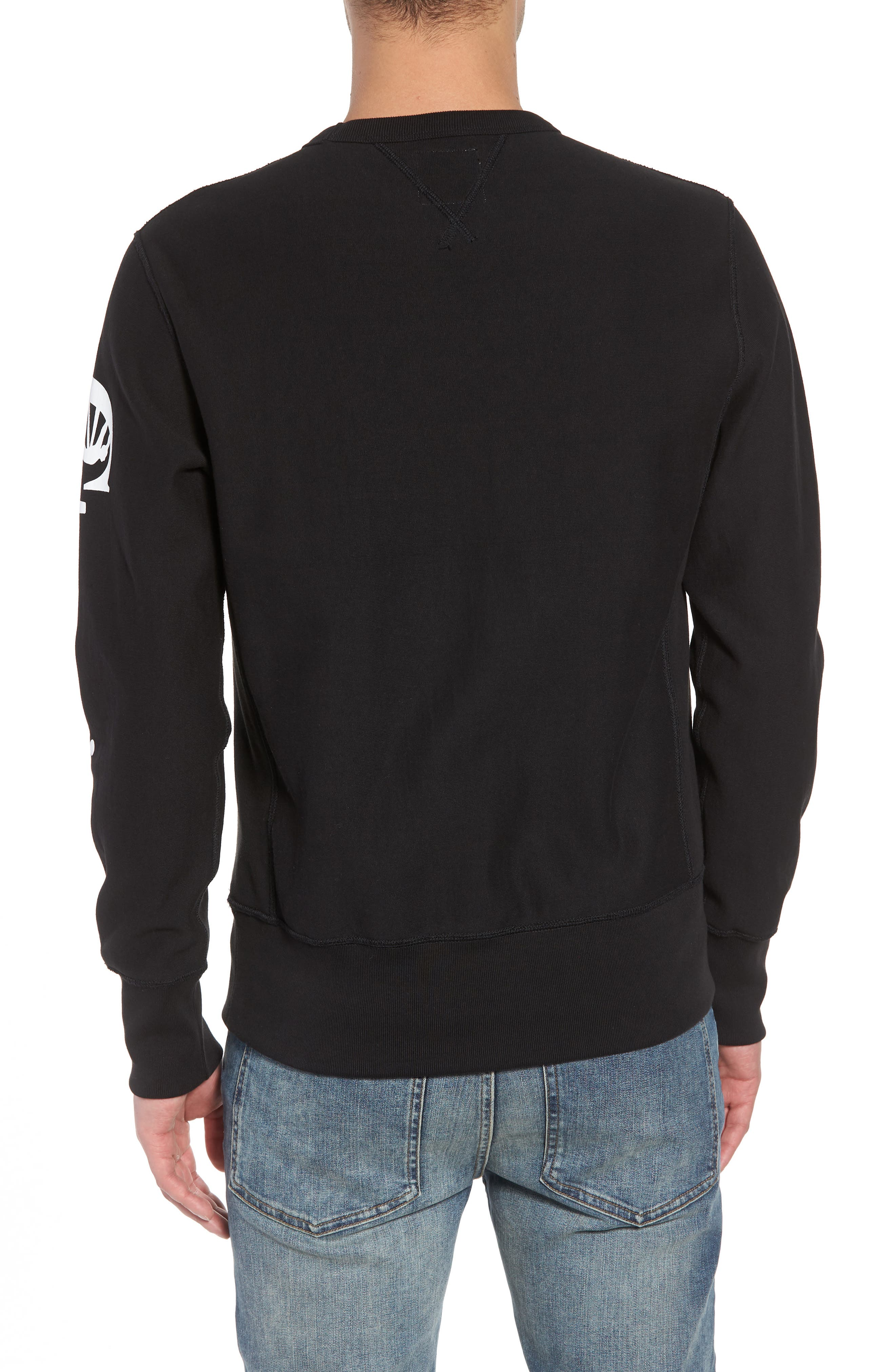 TODD SNYDER,                             + Champion Graphic Sleeve Sweatshirt,                             Alternate thumbnail 2, color,                             001
