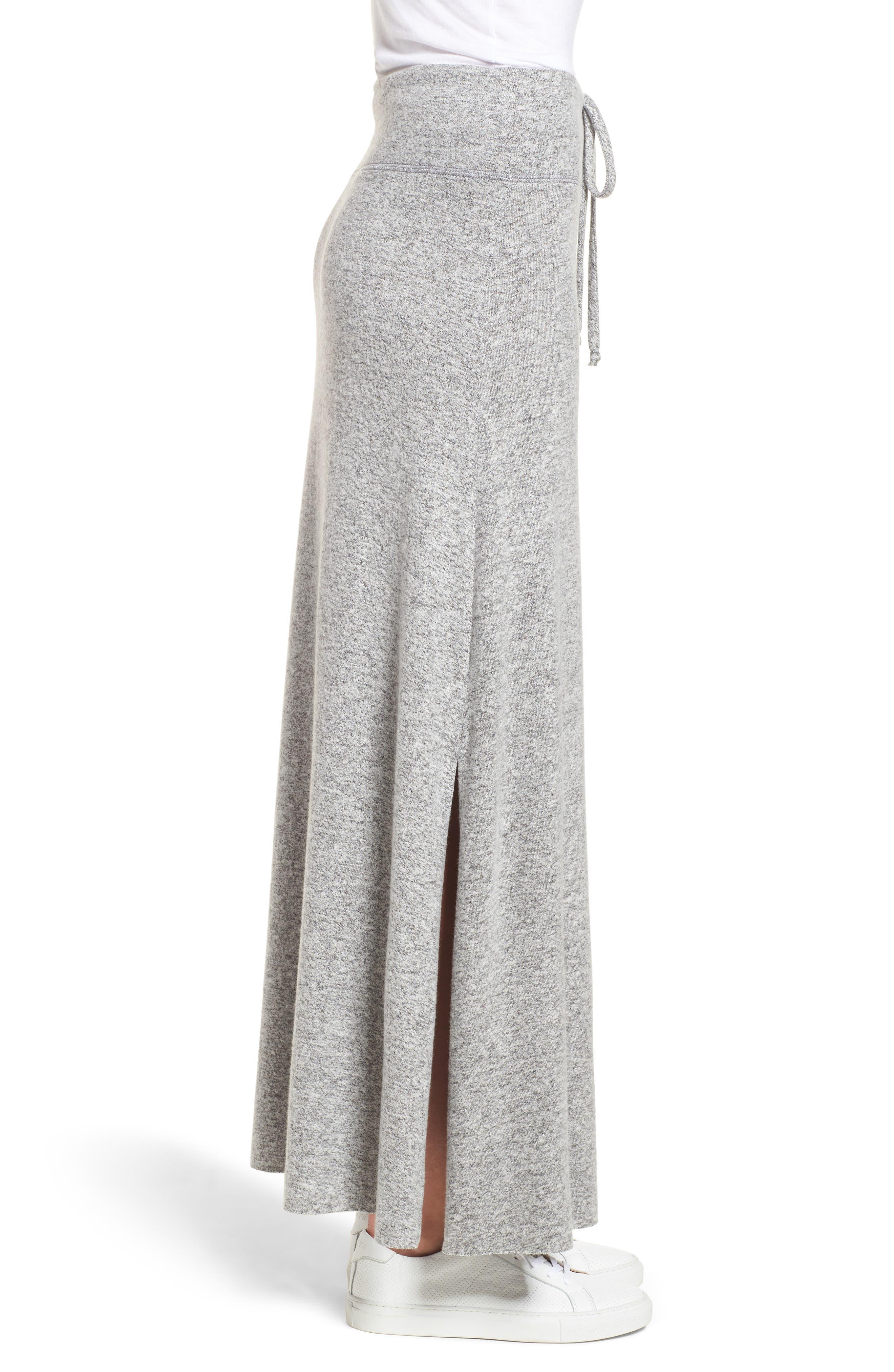 Fleece Maxi Skirt,                             Alternate thumbnail 3, color,                             055