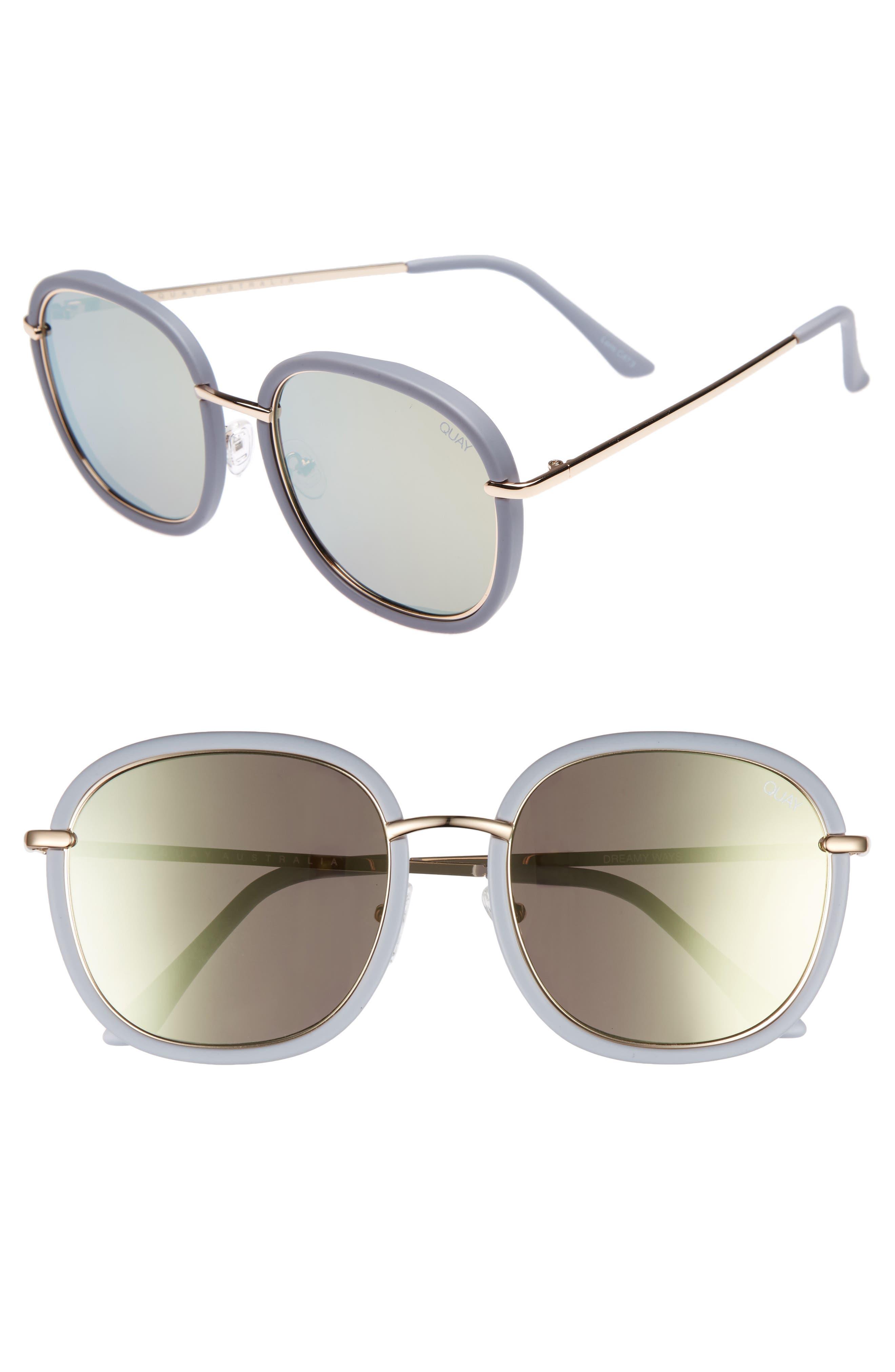 Dreamy Ways 57mm Rectangular Sunglasses,                             Main thumbnail 2, color,