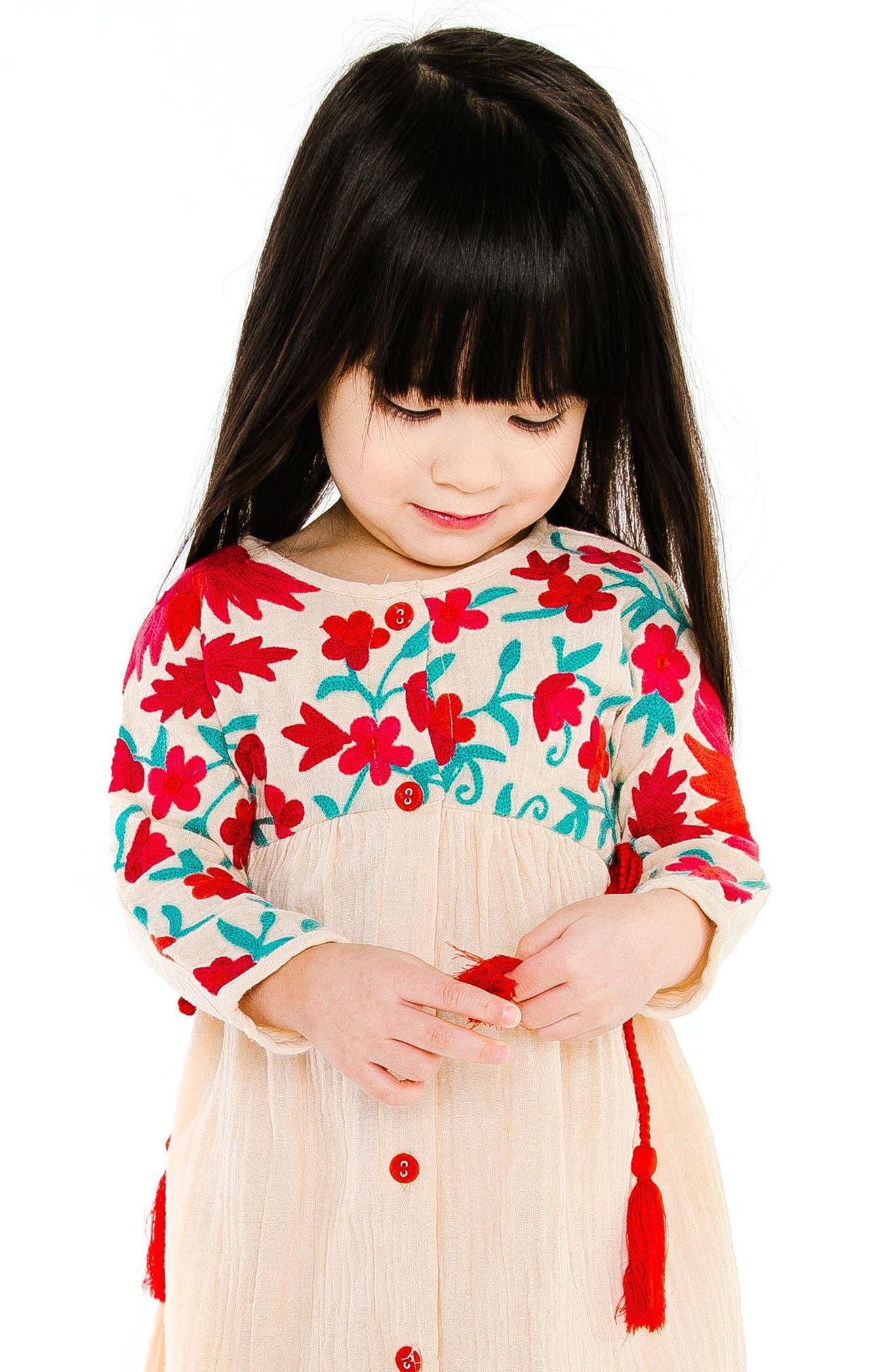 Organic Cotton Aasha Dress,                             Alternate thumbnail 2, color,                             SAND