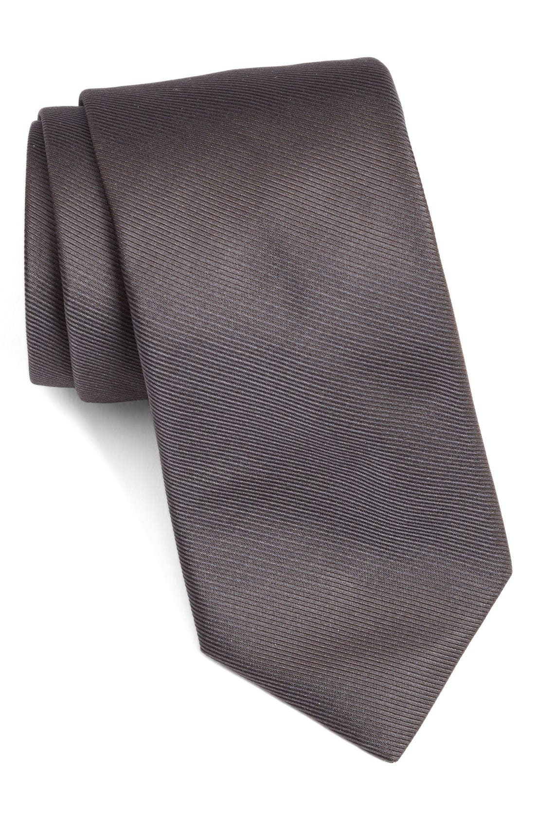 Solid Woven Silk Tie,                             Main thumbnail 2, color,