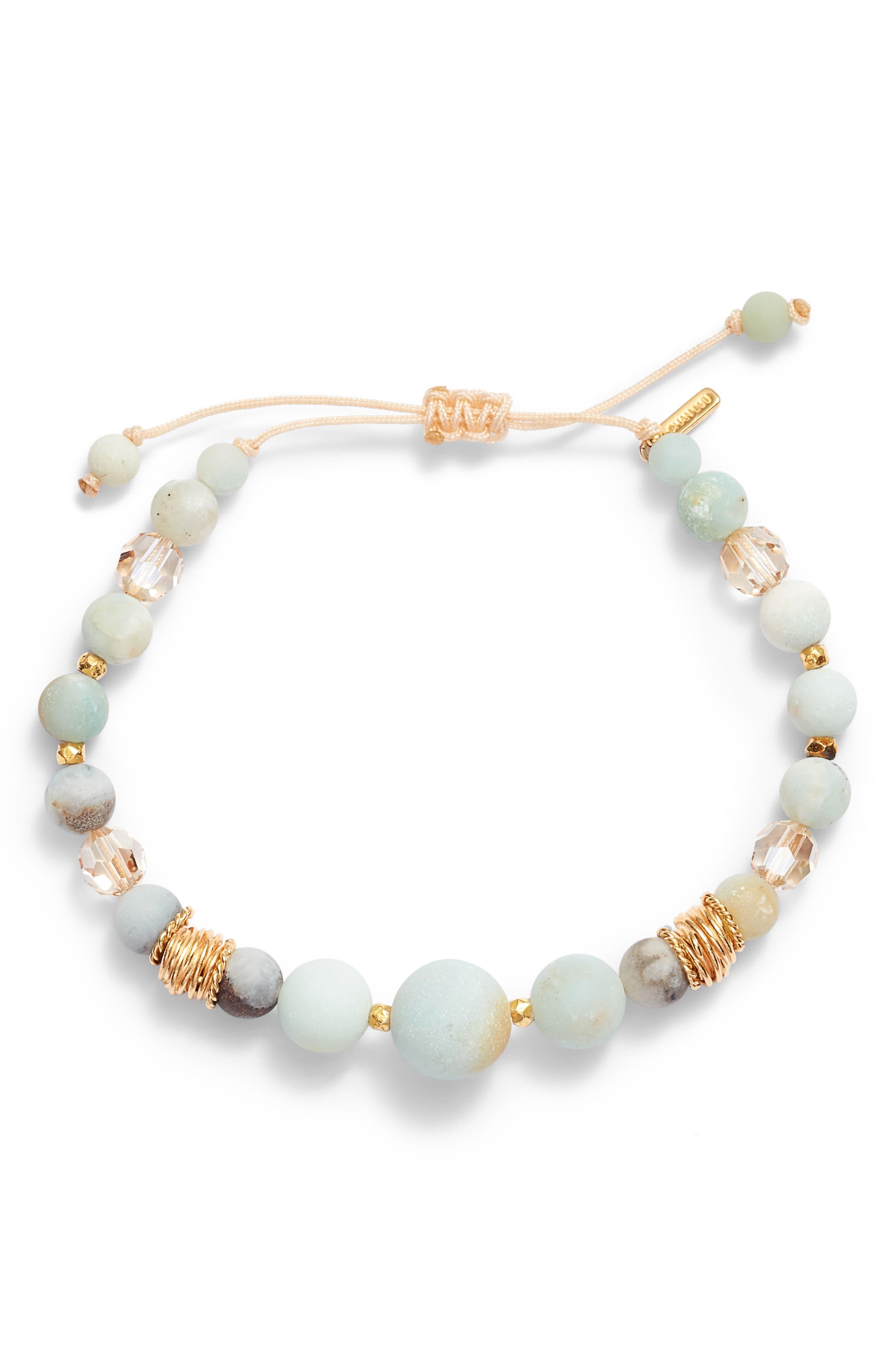 Matte Multicolor Amazonite Adjustable Bracelet,                         Main,                         color, MATTE MULTI