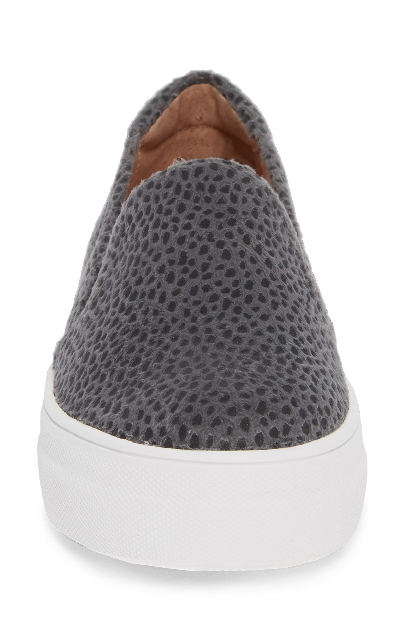 Alden Slip-On Sneaker,                             Alternate thumbnail 4, color,                             STONE CHEETAH FABRIC