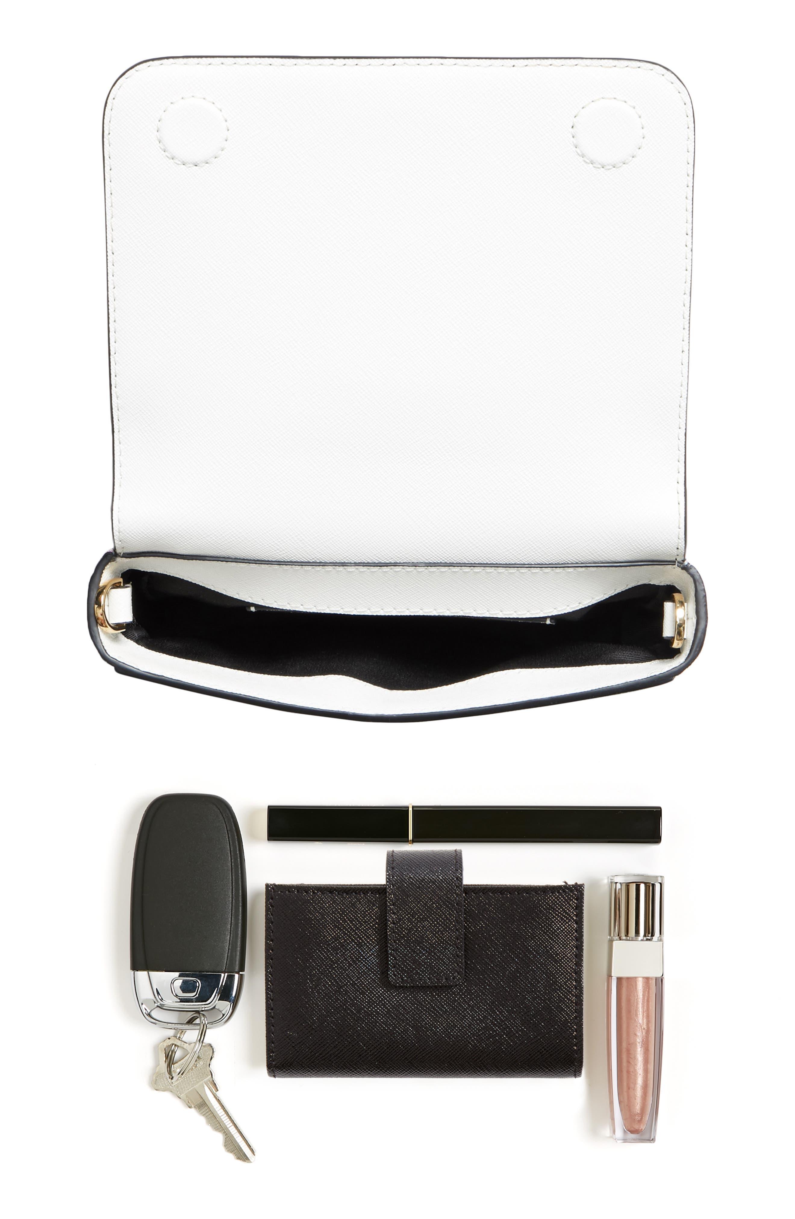 Hip Shot Convertible Crossbody Bag,                             Alternate thumbnail 8, color,                             BLACK/ BABY PINK