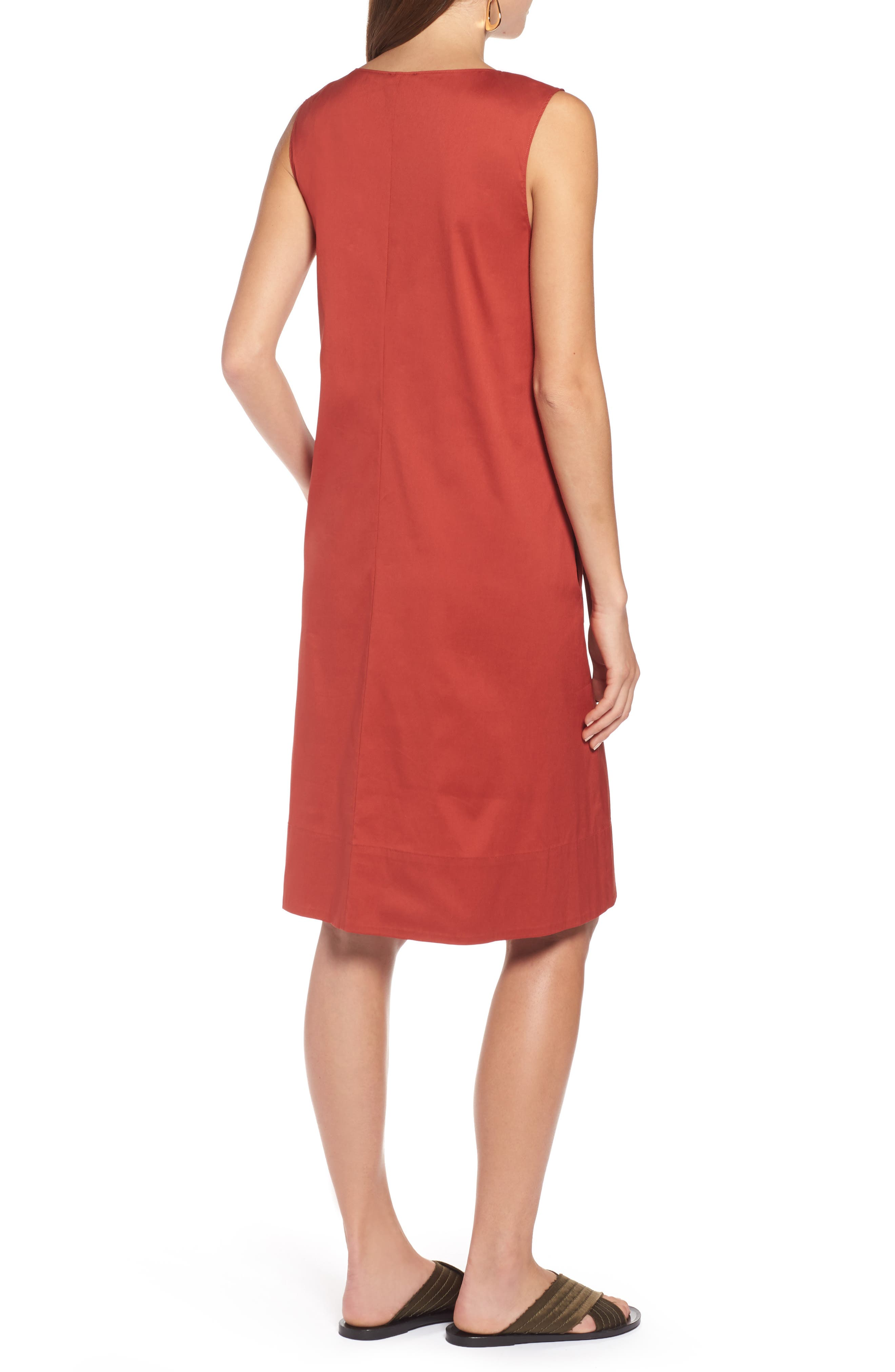 Drawcord Stretch Cotton Blend Dress,                             Alternate thumbnail 2, color,                             221