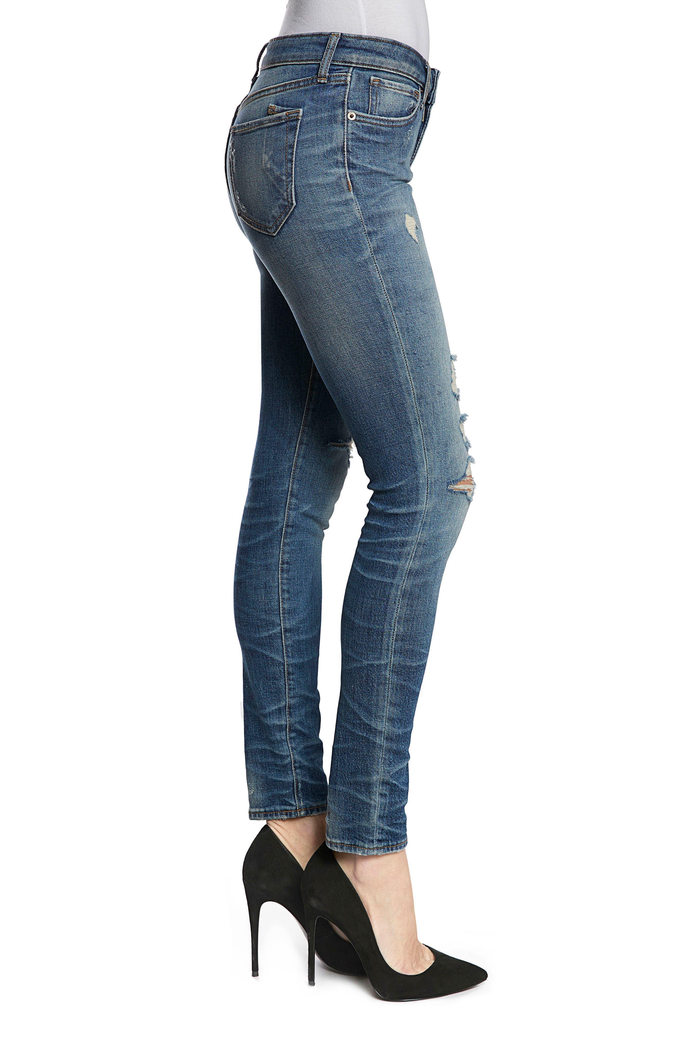 Camaro Ankle Skinny Jeans,                             Alternate thumbnail 3, color,                             490