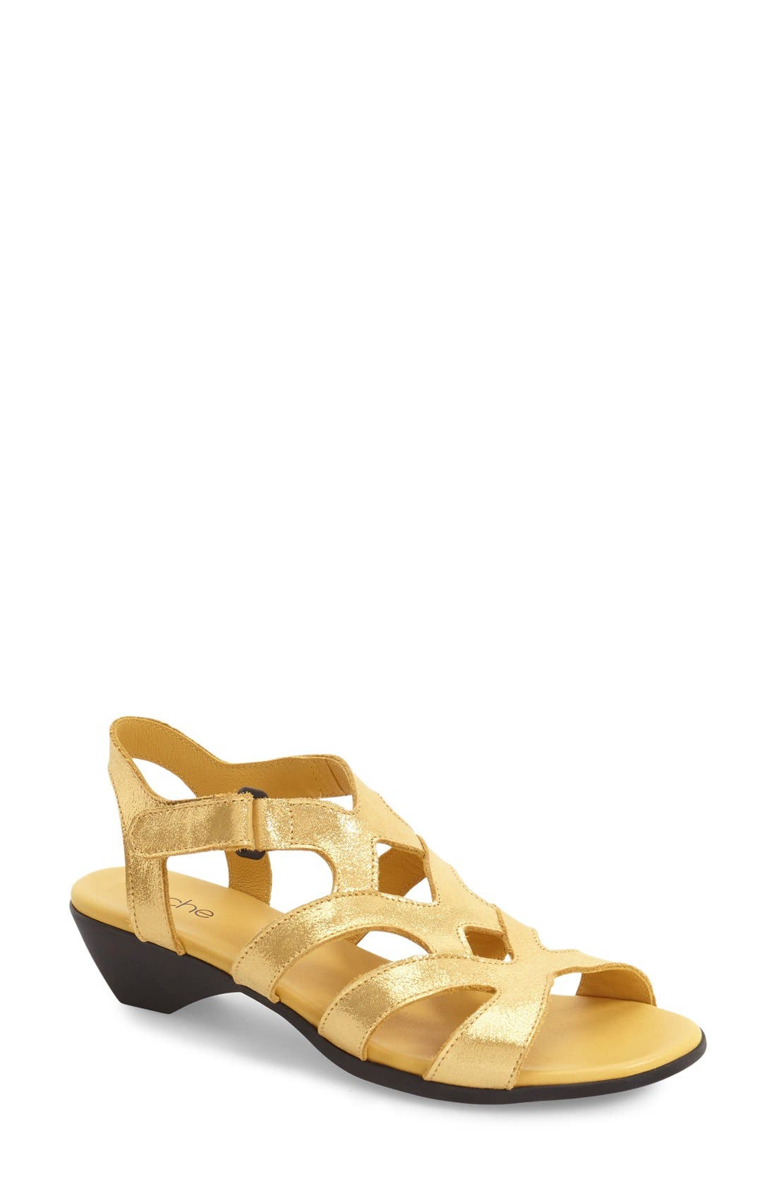 'Obela' Water Resistant Leather Sandal,                             Main thumbnail 6, color,