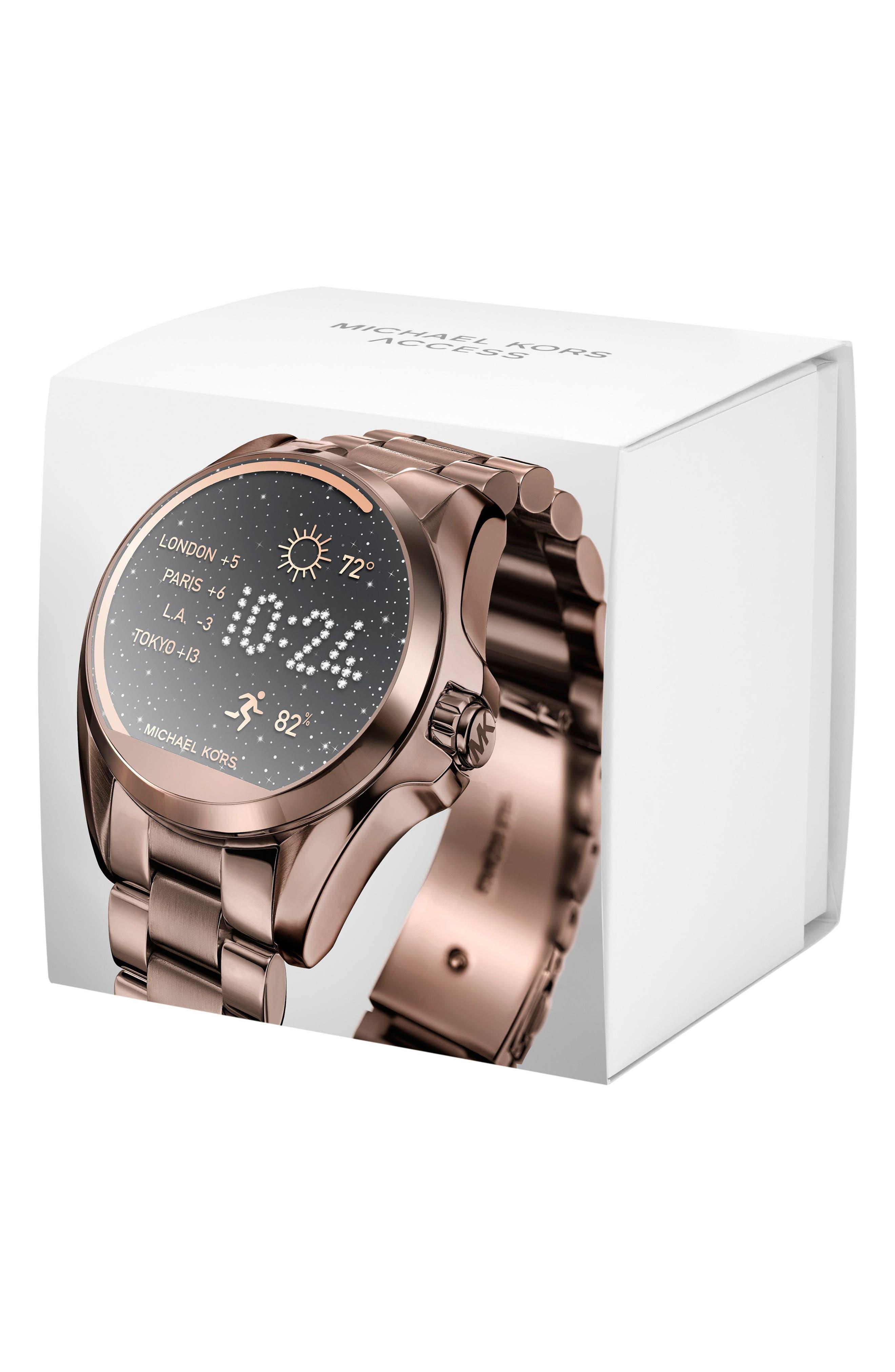 MICHAEL Michael Kors Bradshaw Access Bracelet Smart Watch, 45mm,                             Alternate thumbnail 28, color,