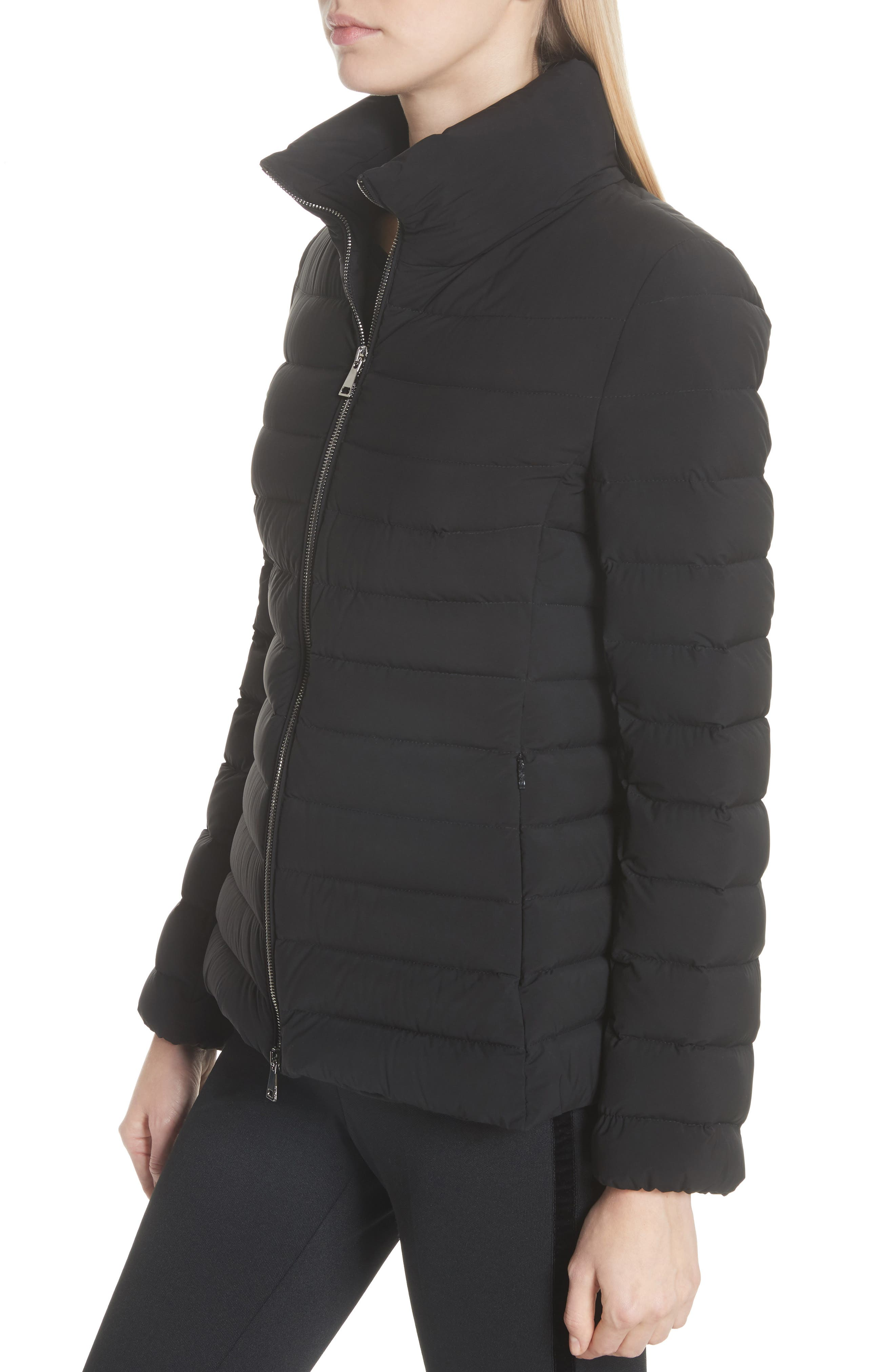 Guillemot Quilted Down Jacket,                             Alternate thumbnail 4, color,                             BLACK