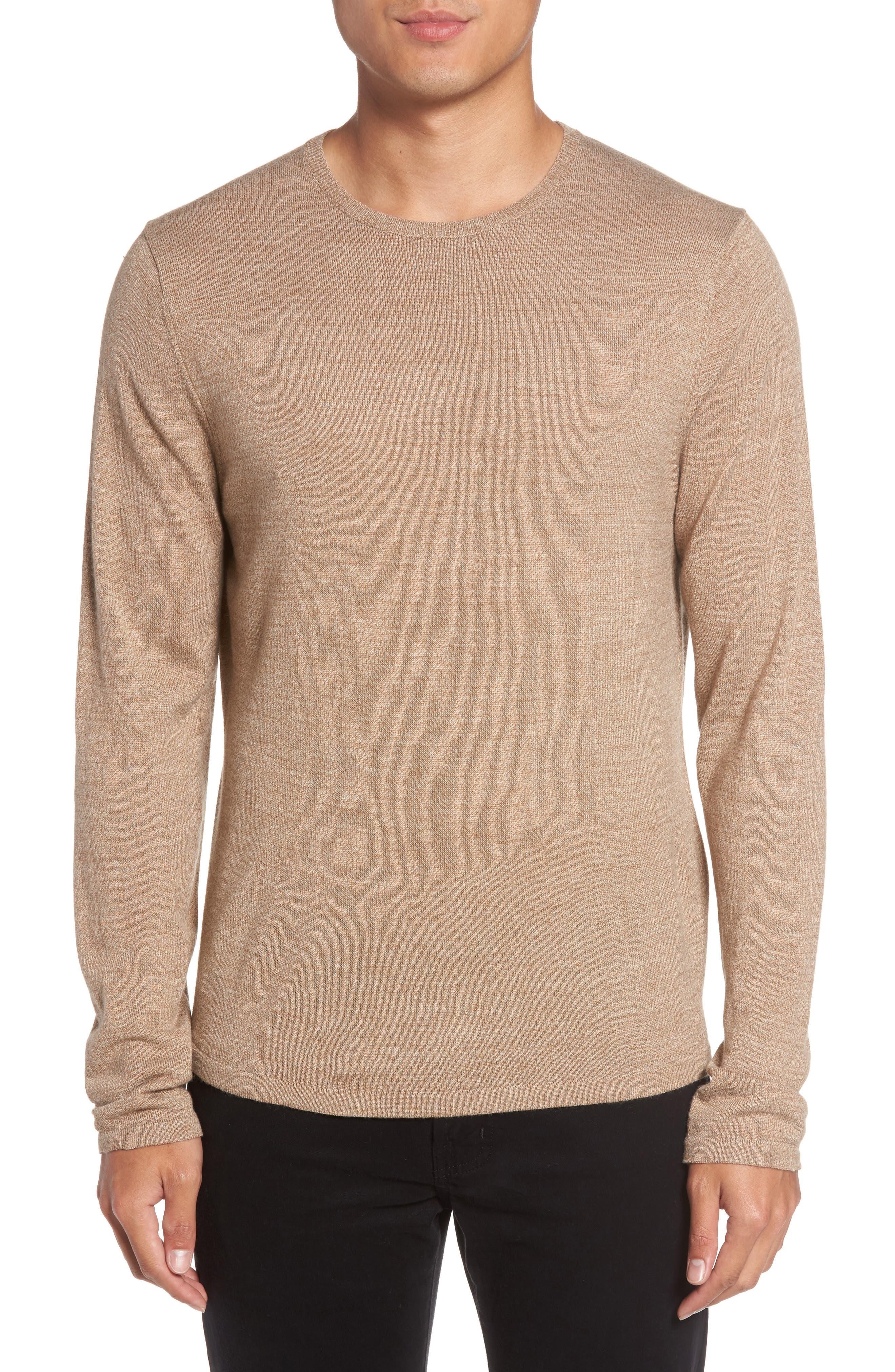 Merino Blend Crewneck Sweater,                             Main thumbnail 3, color,