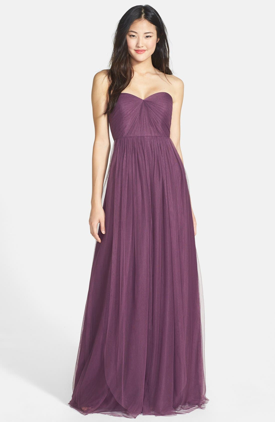 Annabelle Convertible Tulle Column Dress,                             Main thumbnail 7, color,