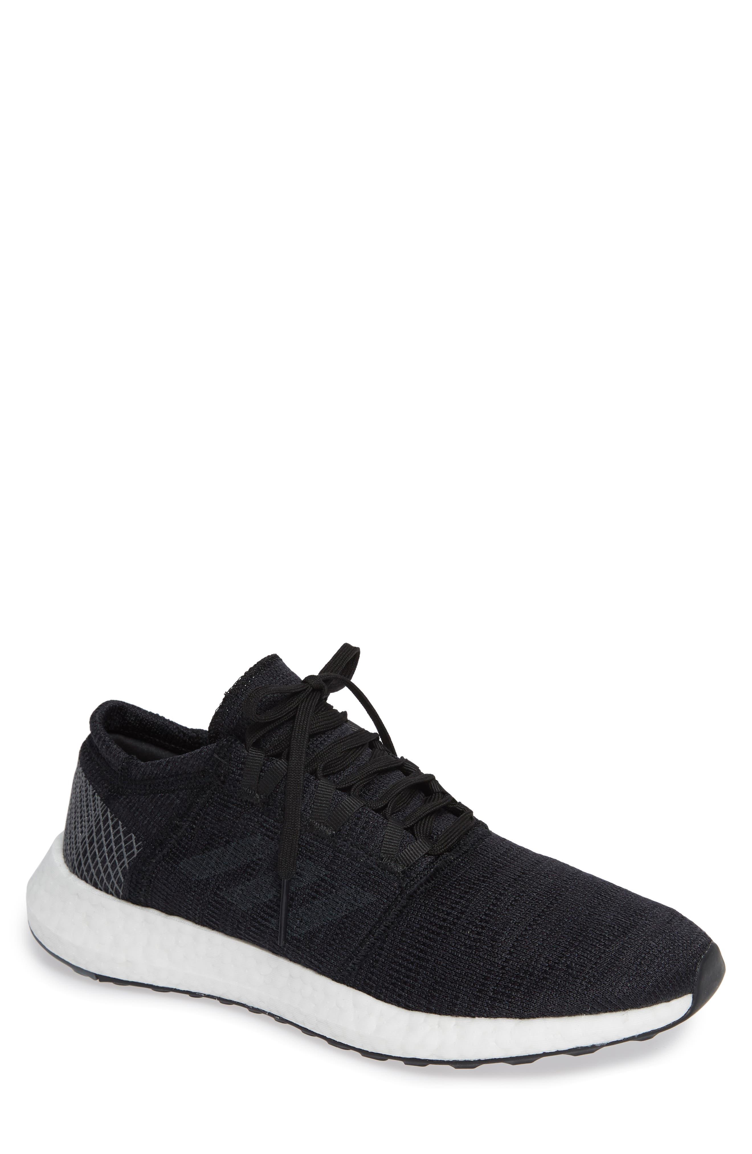 PureBoost GO Running Shoe,                         Main,                         color, BLACK/ GREY