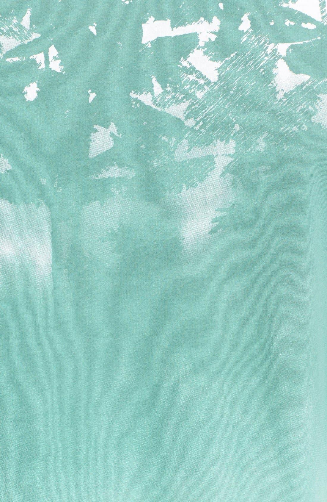 'Lost' Shadow Palm Print Crewneck T-Shirt,                             Alternate thumbnail 10, color,