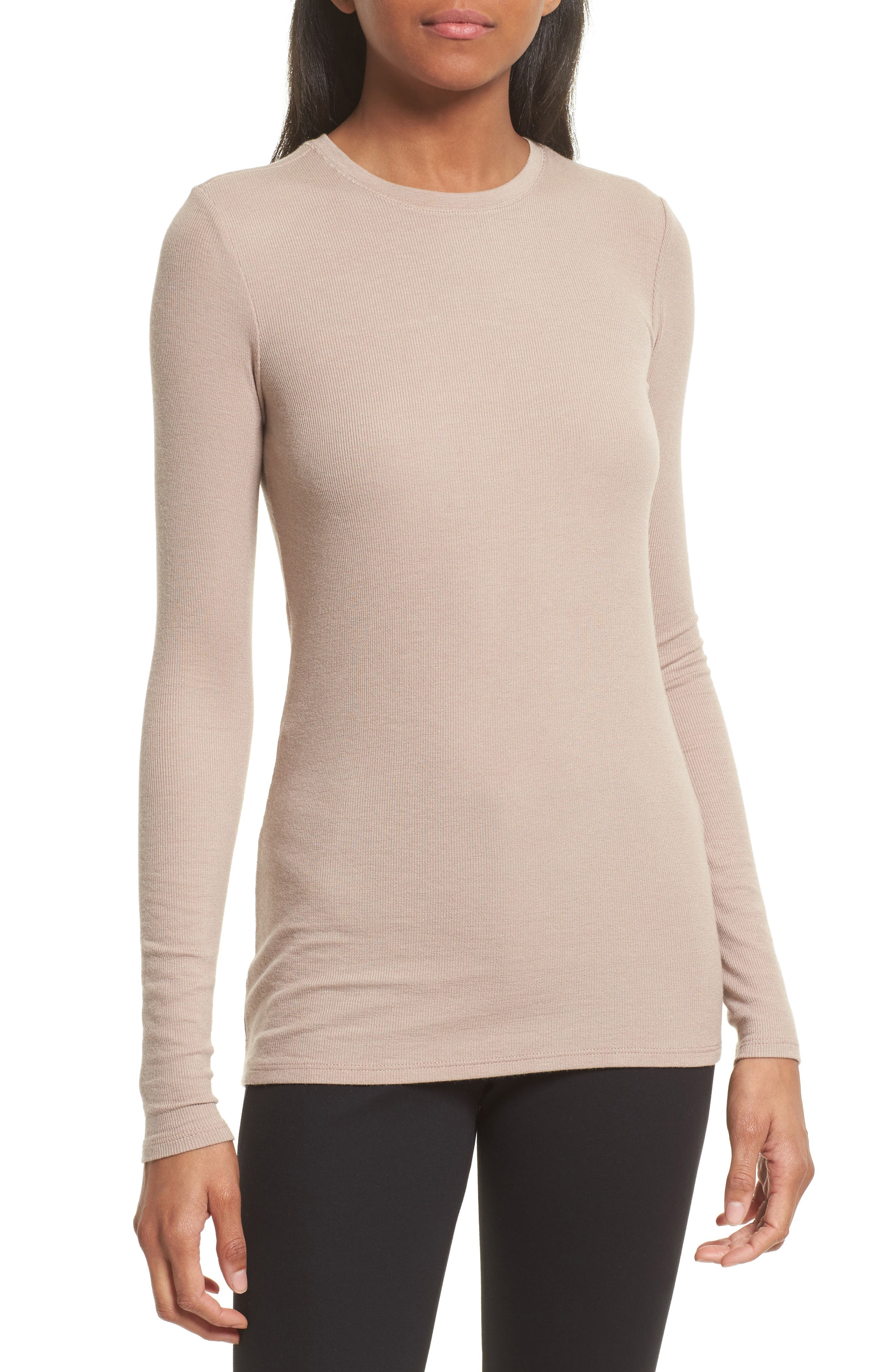 Rib Jersey Tee,                             Main thumbnail 1, color,                             255