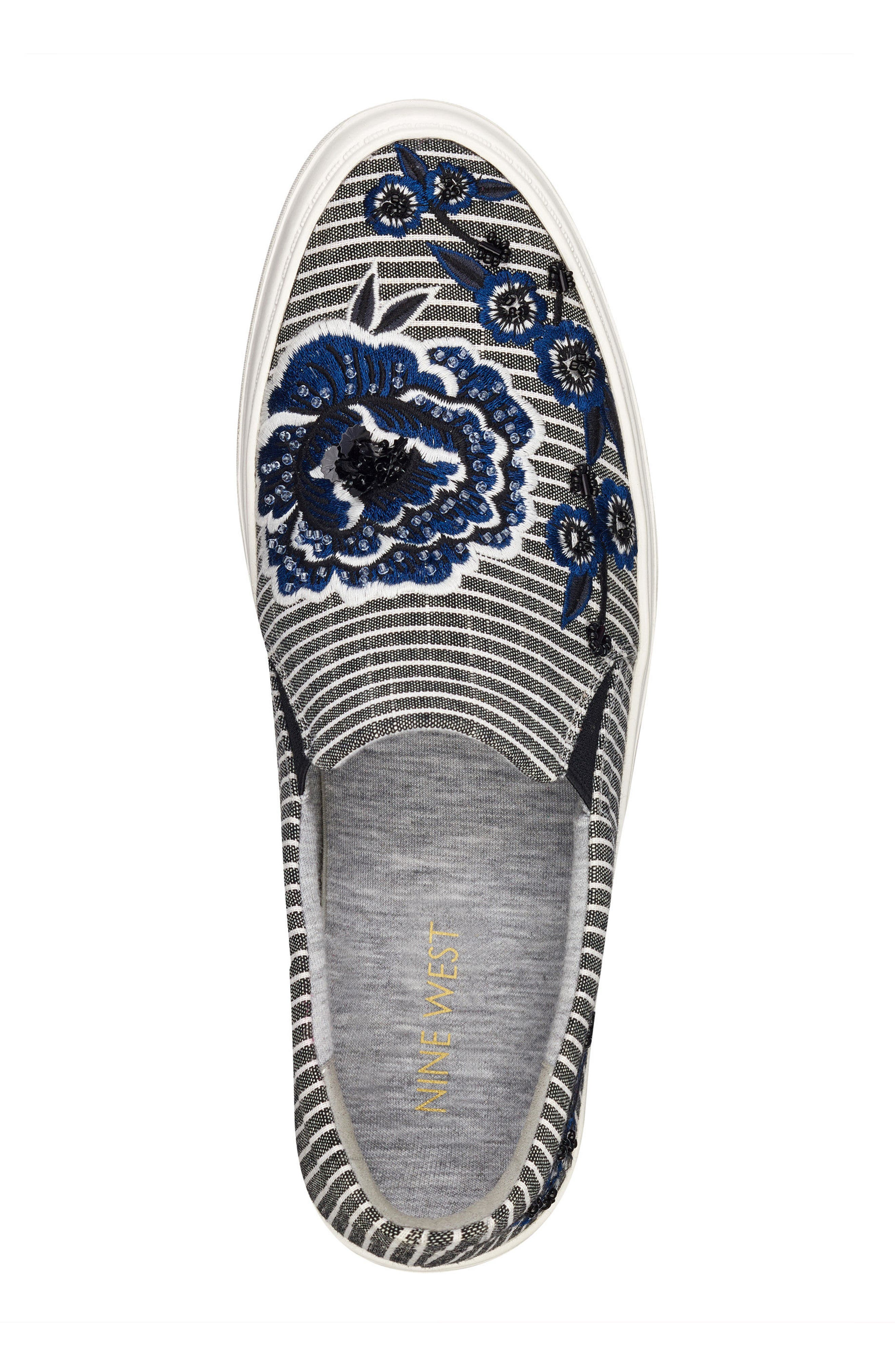 Onyeka Embroidered Slip-On Sneaker,                             Alternate thumbnail 5, color,                             001