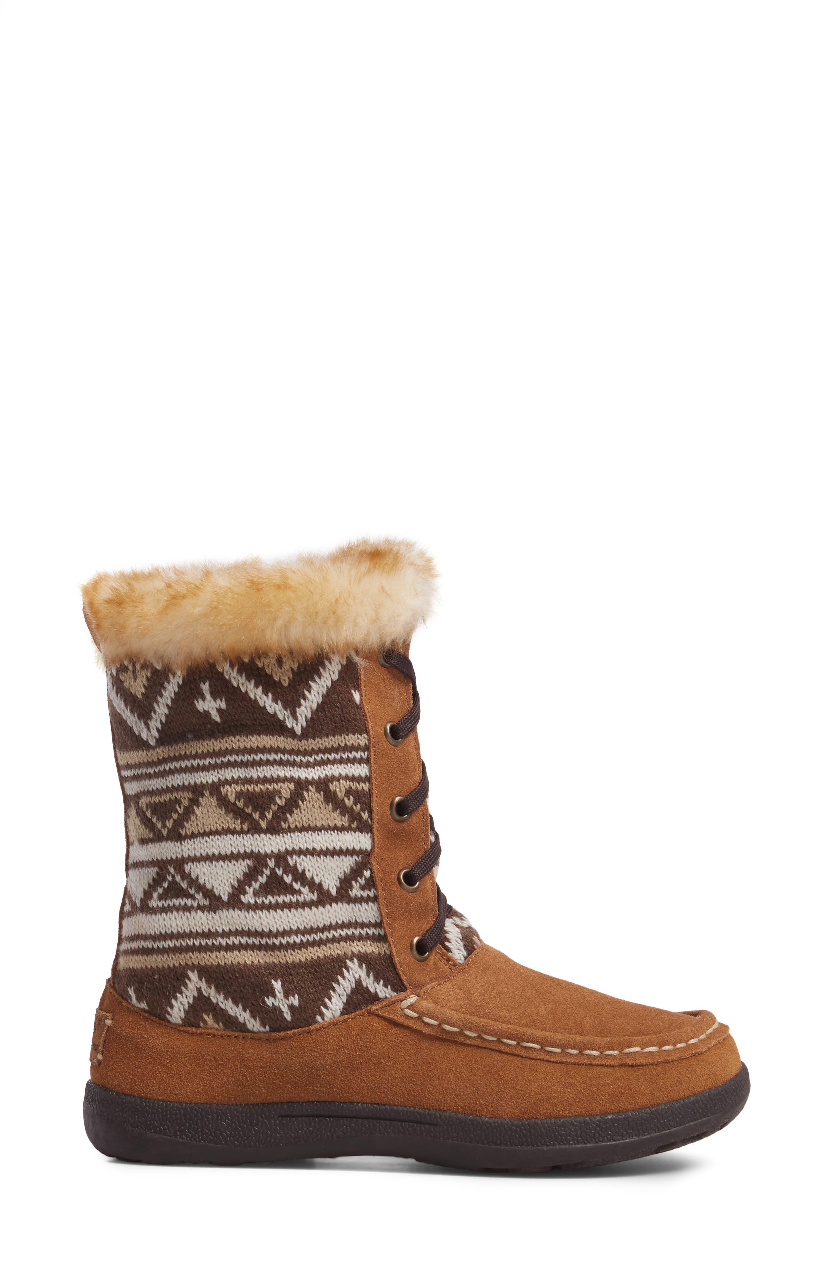 Doe Creek II Faux Fur Trim Boot,                             Alternate thumbnail 9, color,