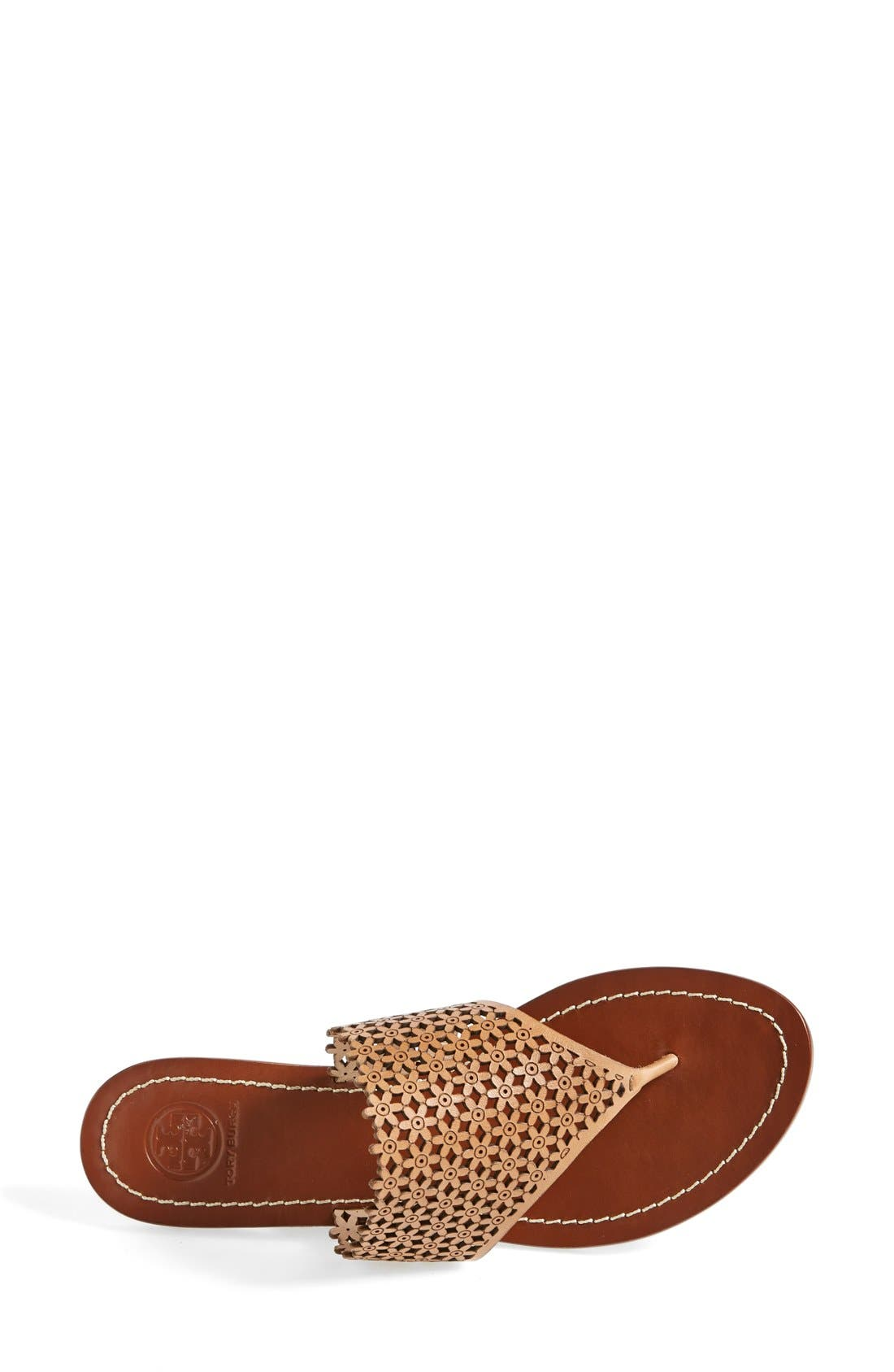 TORY BURCH,                             'Daisy' Perforated Sandal,                             Alternate thumbnail 2, color,                             671