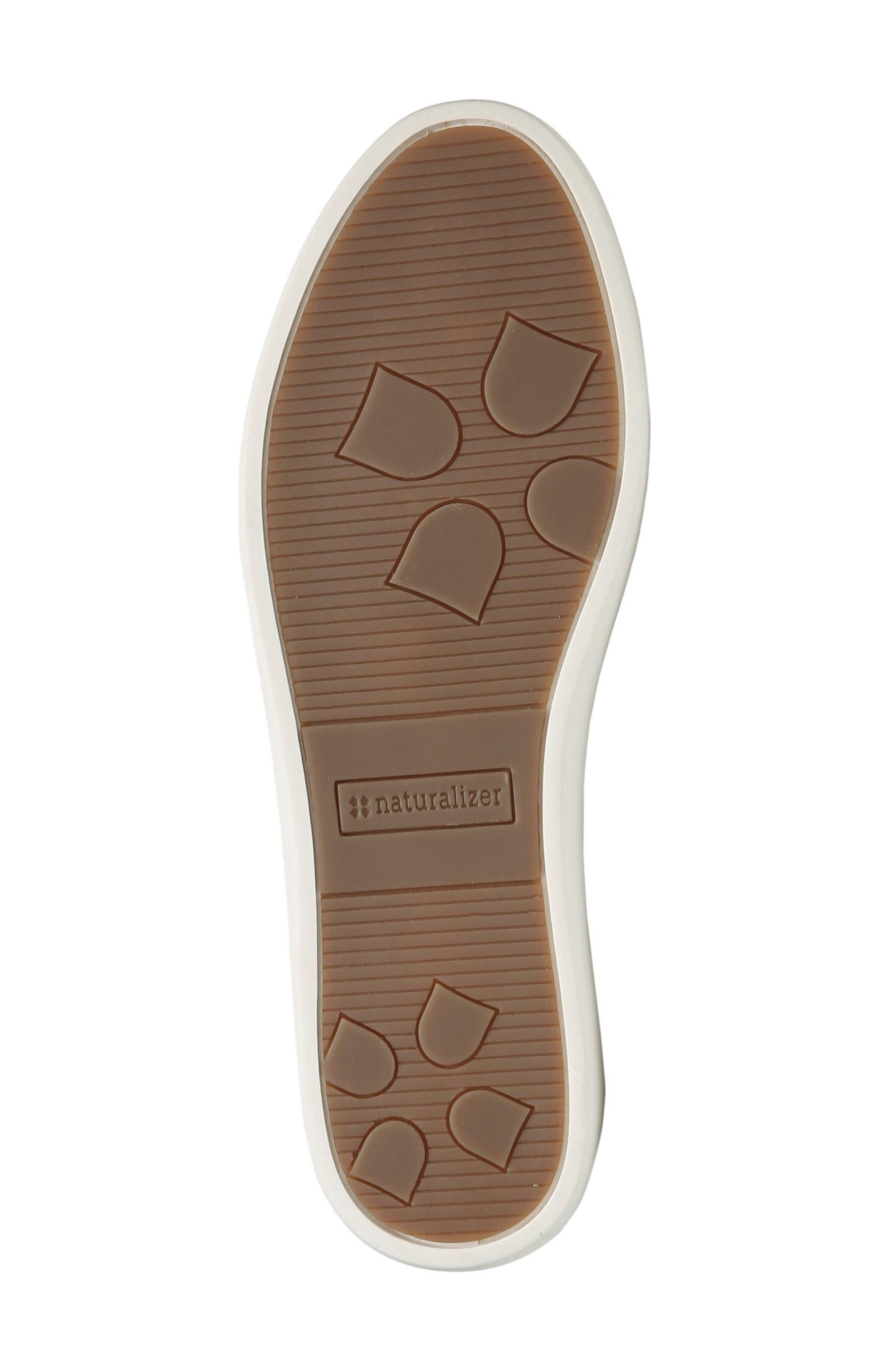 Gwen Slip-On Sneaker,                             Alternate thumbnail 4, color,                             WHITE LEATHER