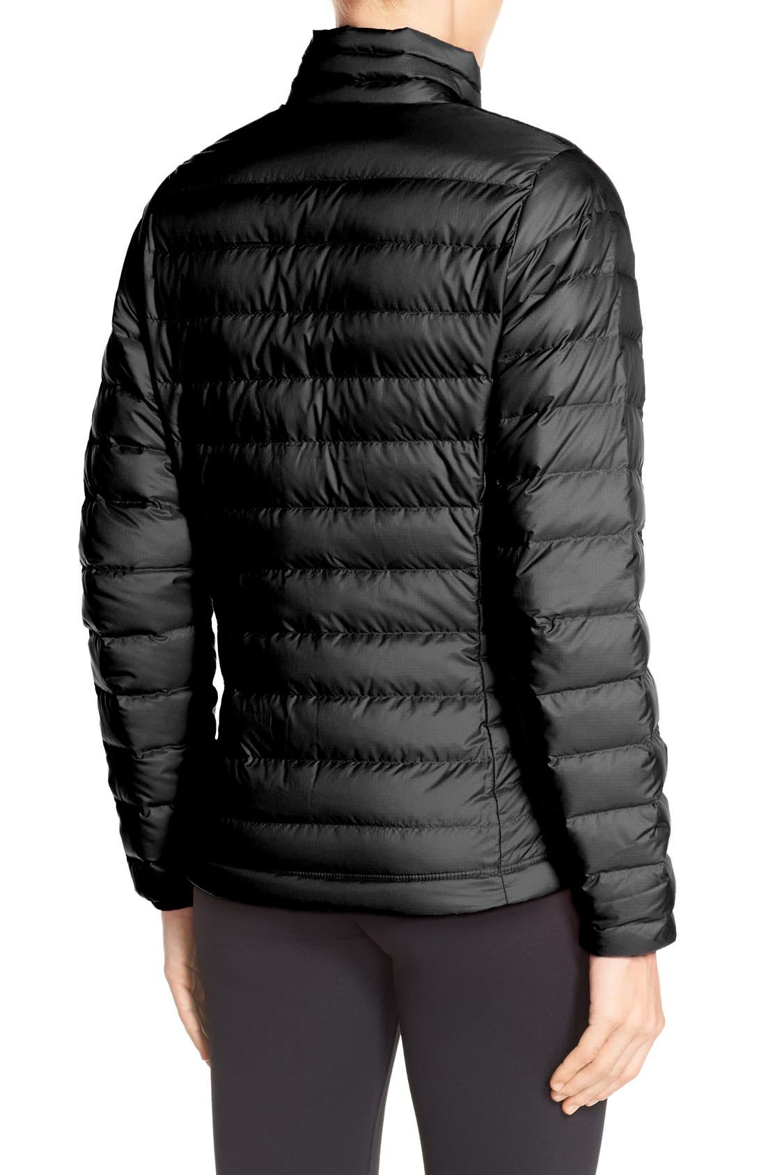Packable Down Jacket,                             Alternate thumbnail 2, color,                             BLACK