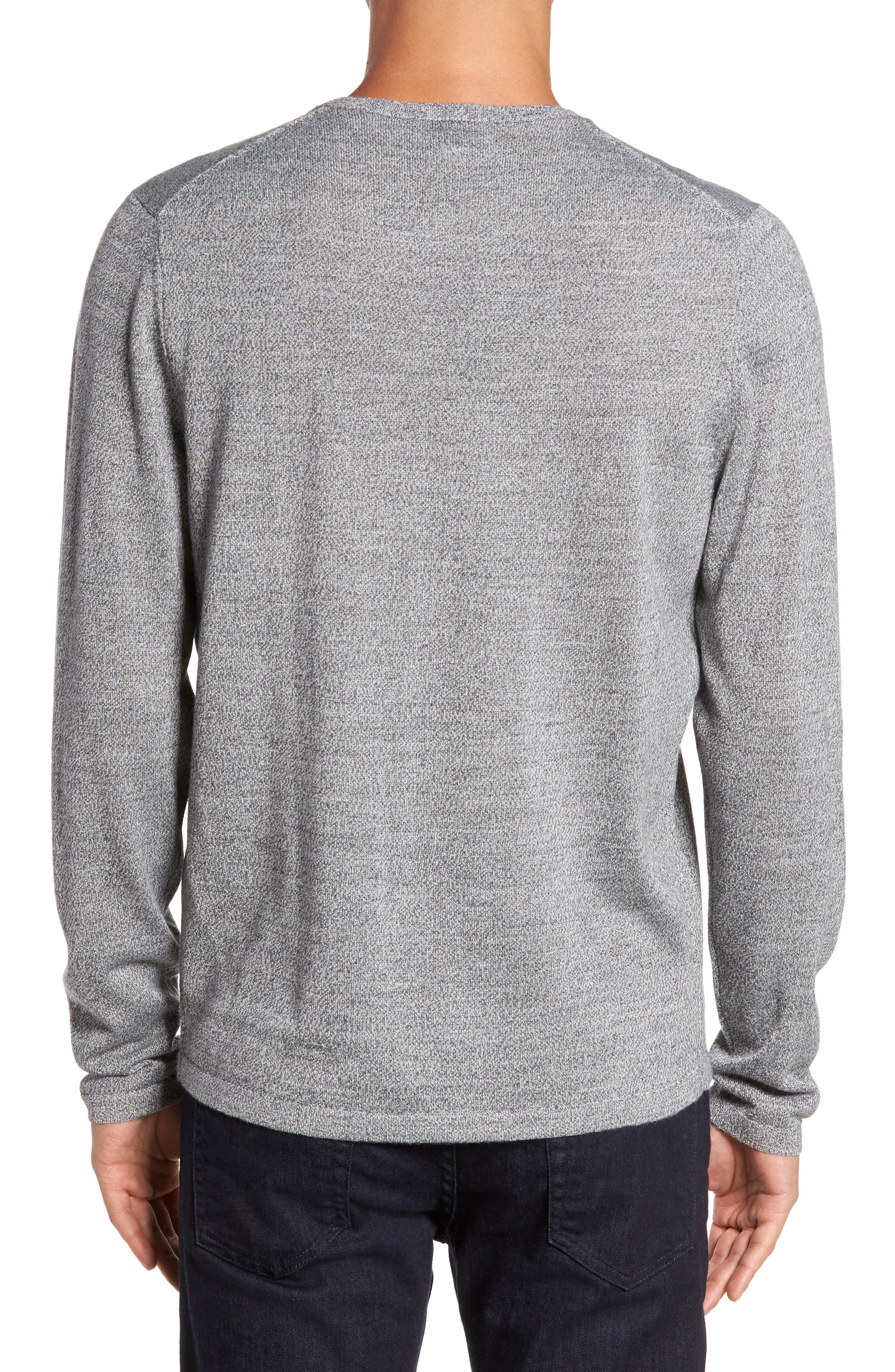 Merino Blend Crewneck Sweater,                             Alternate thumbnail 6, color,