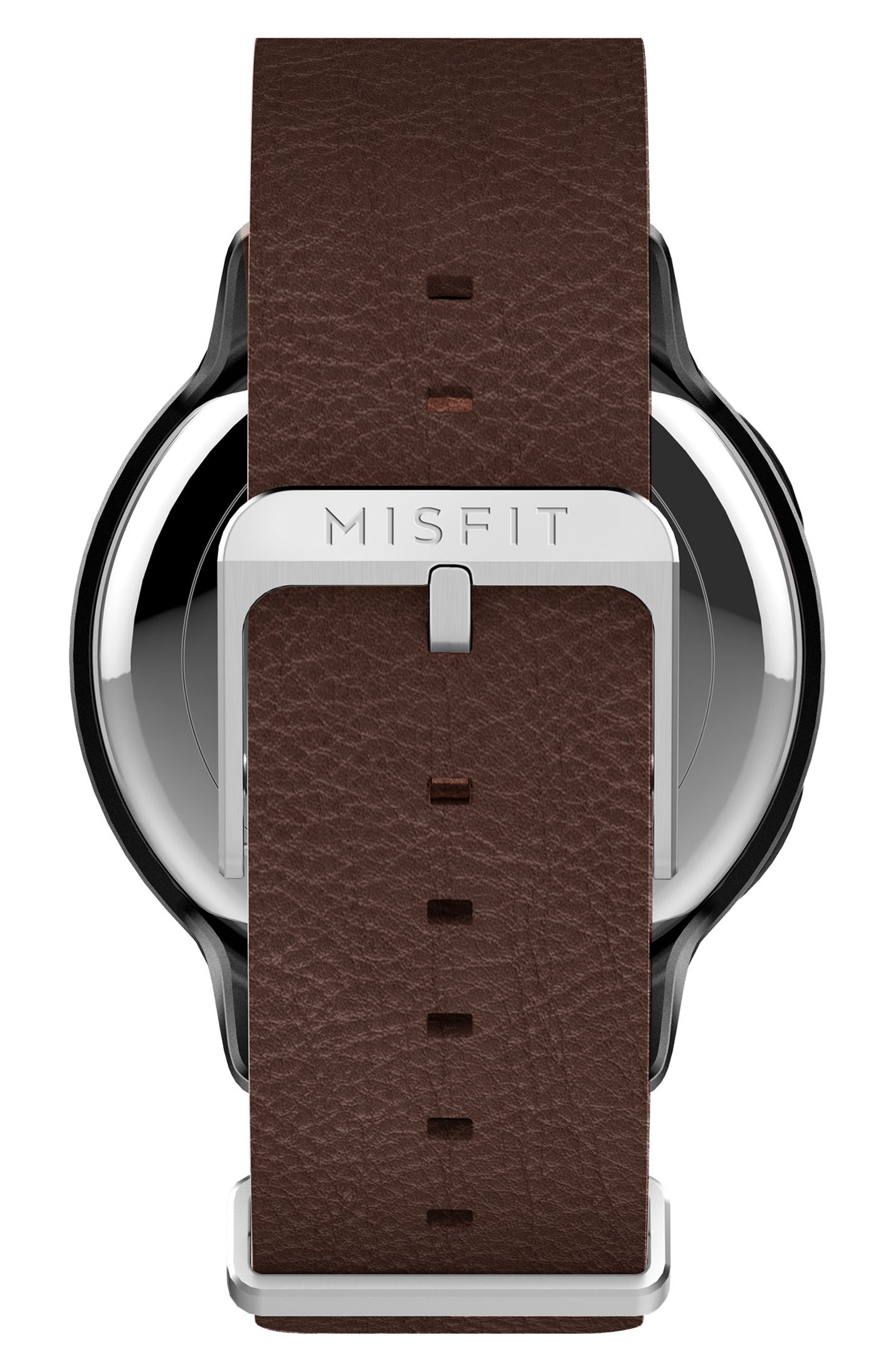 Phase Leather Strap Smart Watch, 40mm,                             Alternate thumbnail 7, color,