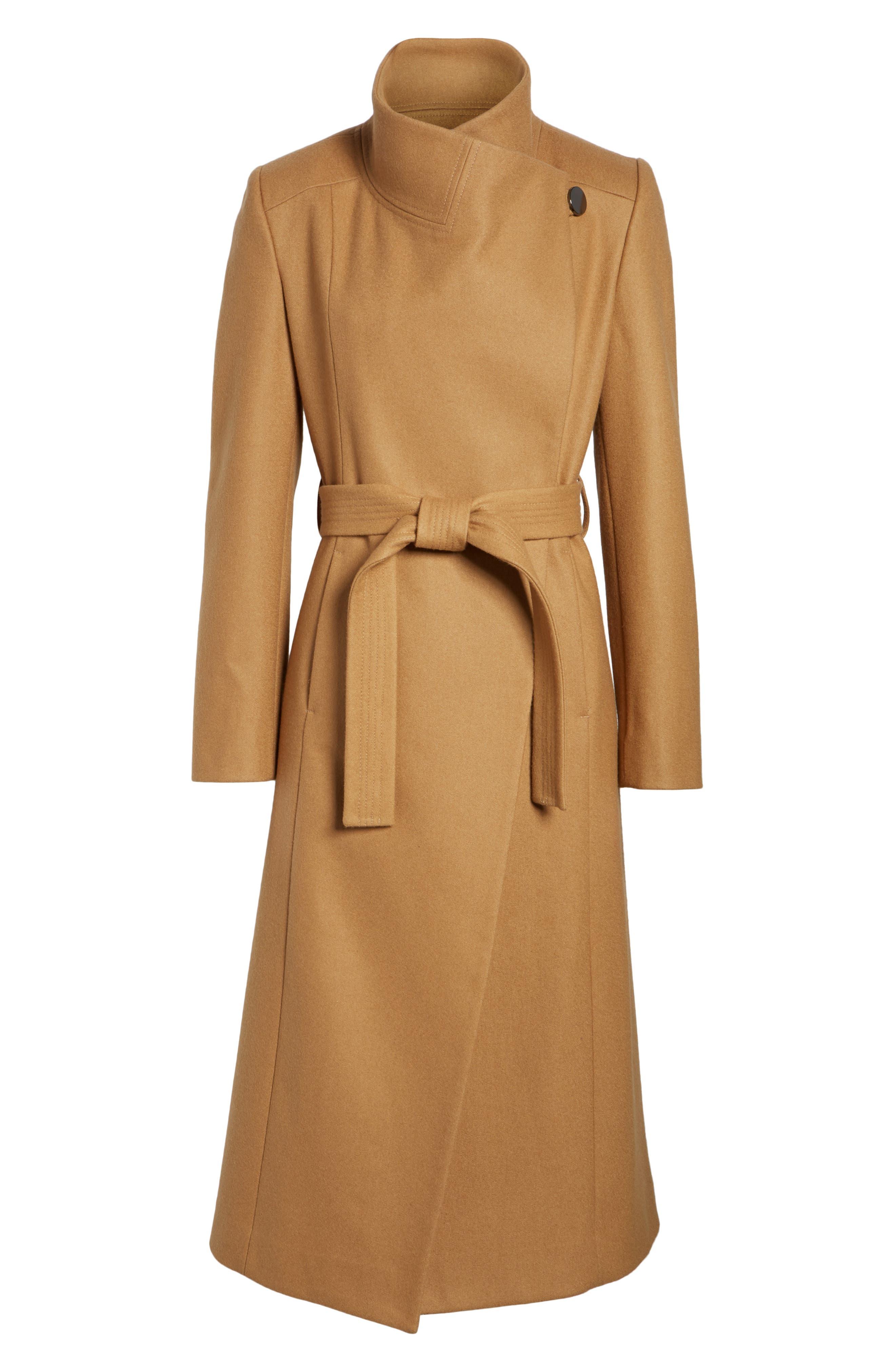 Wool Blend Maxi Wrap Coat,                             Alternate thumbnail 5, color,                             205