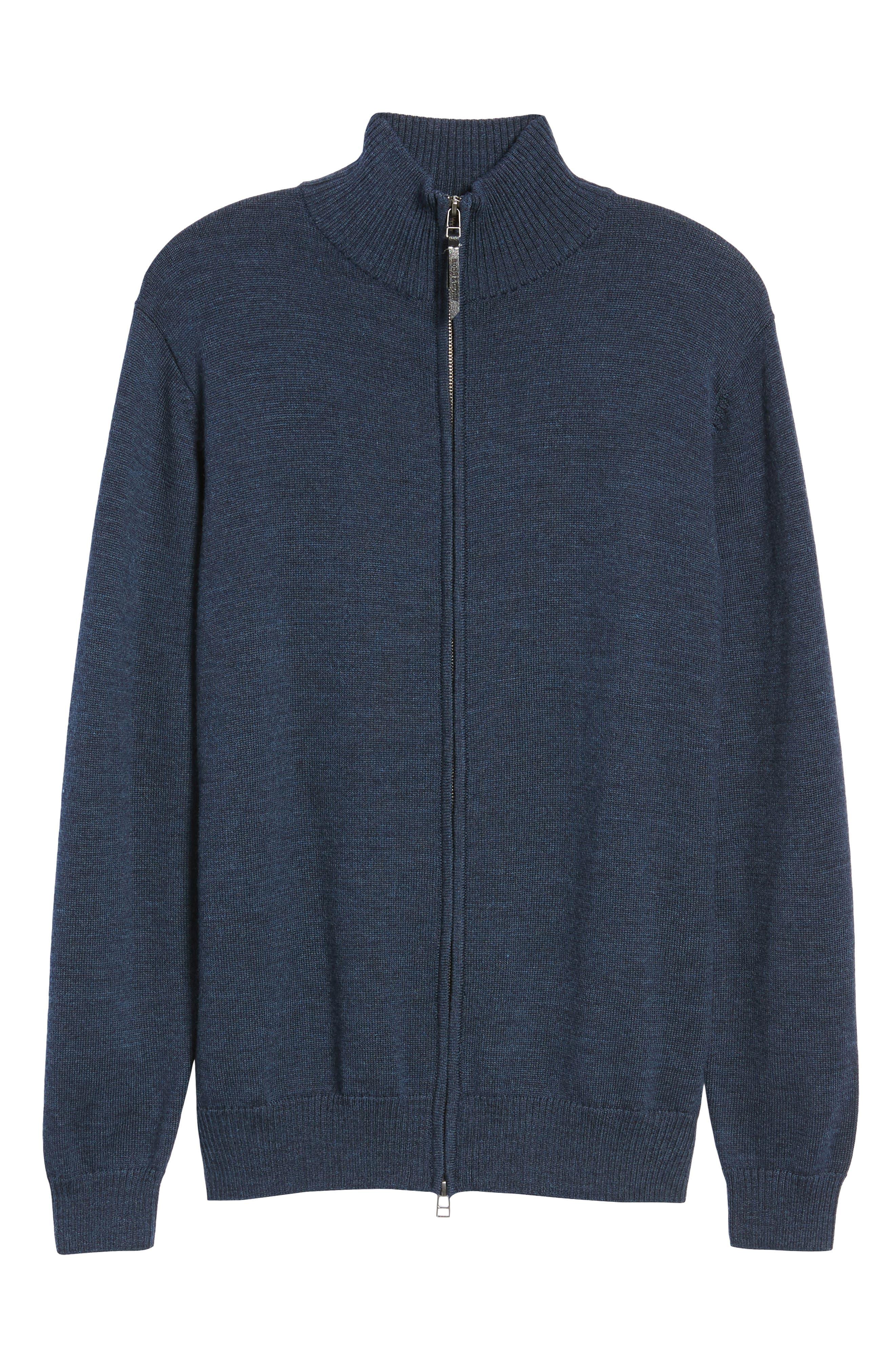 Roaring Meg Zip Wool Sweater,                             Alternate thumbnail 6, color,                             401