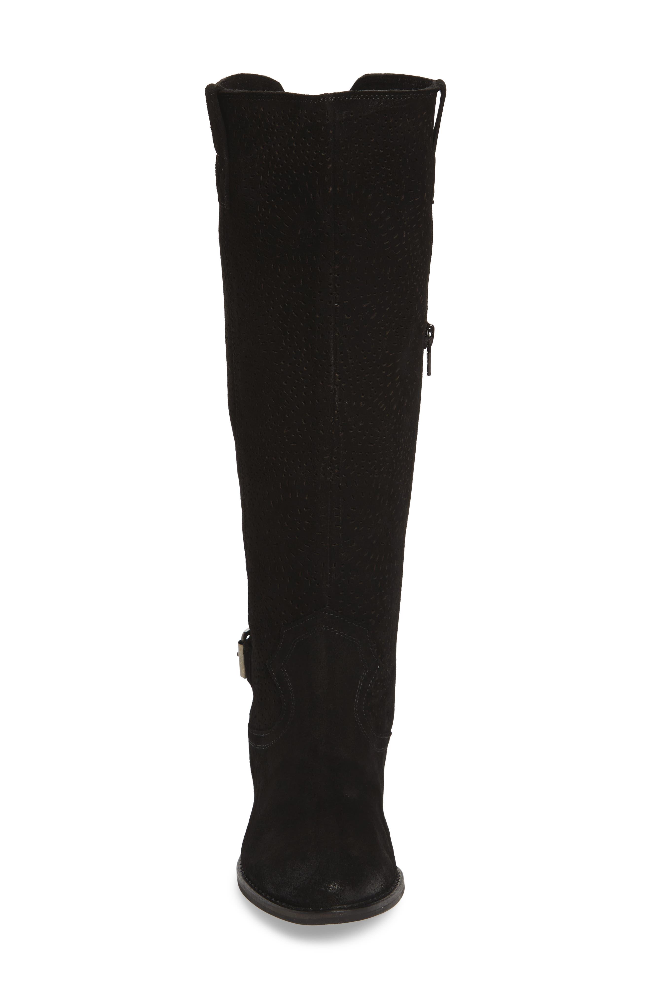 Ziba Tall Boot,                             Alternate thumbnail 4, color,                             001