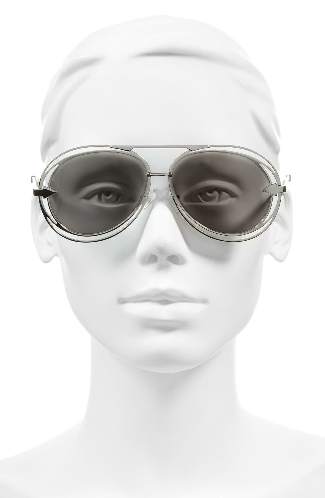 'Jacques' Aviator 57mm Sunglasses,                             Alternate thumbnail 2, color,                             040