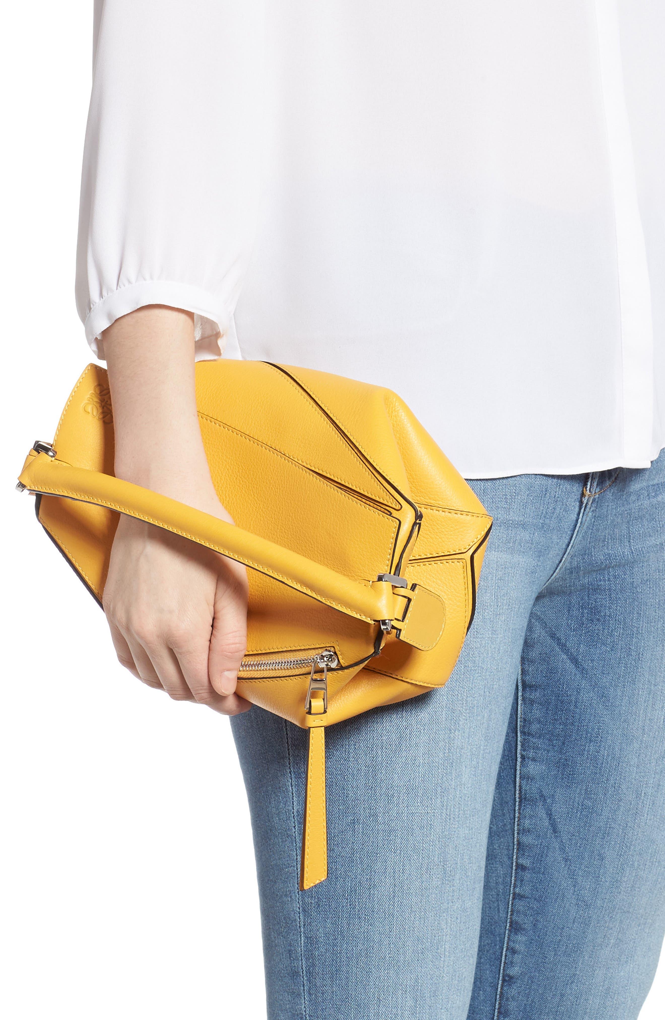 LOEWE,                             Small Puzzle Shoulder Bag,                             Alternate thumbnail 3, color,                             YELLOW MANGO