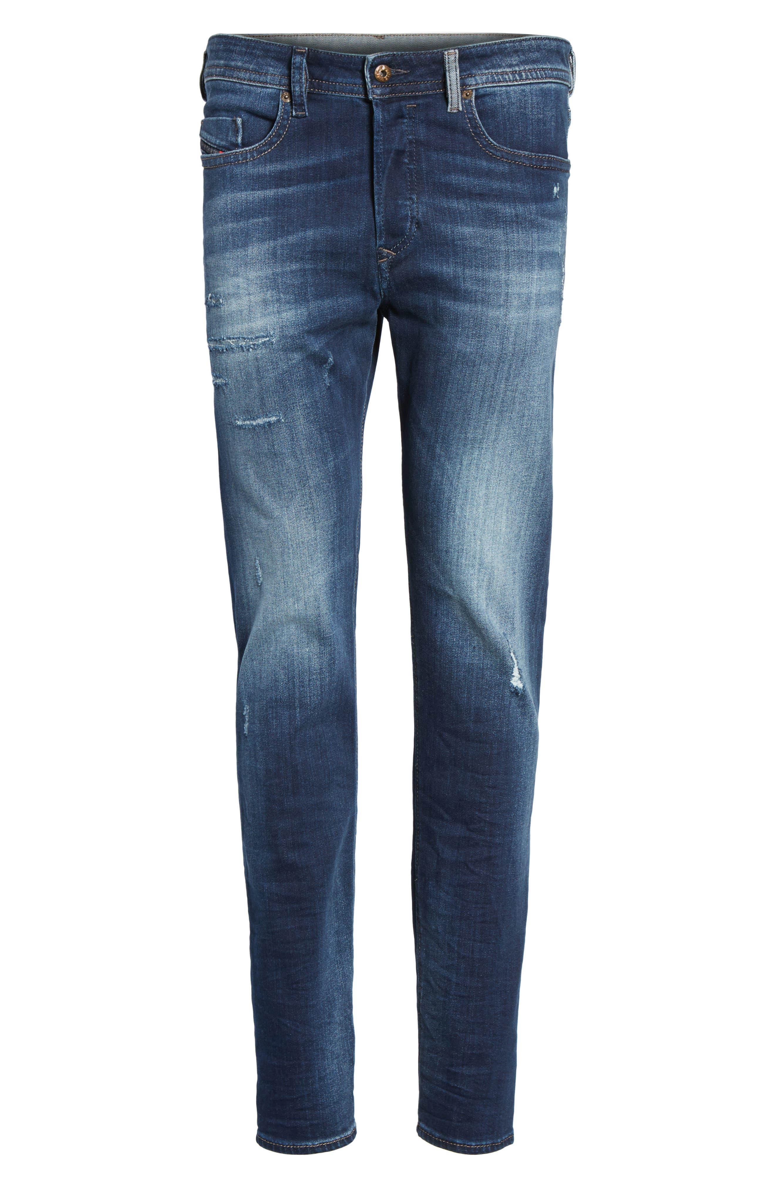 Buster Slim Straight Leg Jeans,                             Alternate thumbnail 6, color,                             900