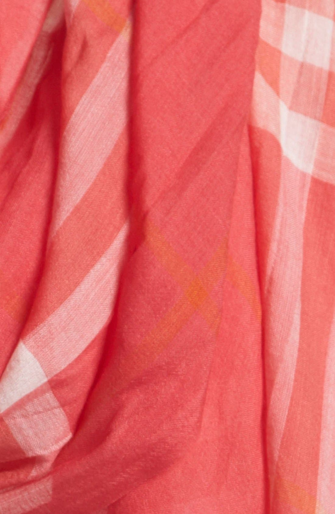 Giant Check Print Wool & Silk Scarf,                             Alternate thumbnail 114, color,