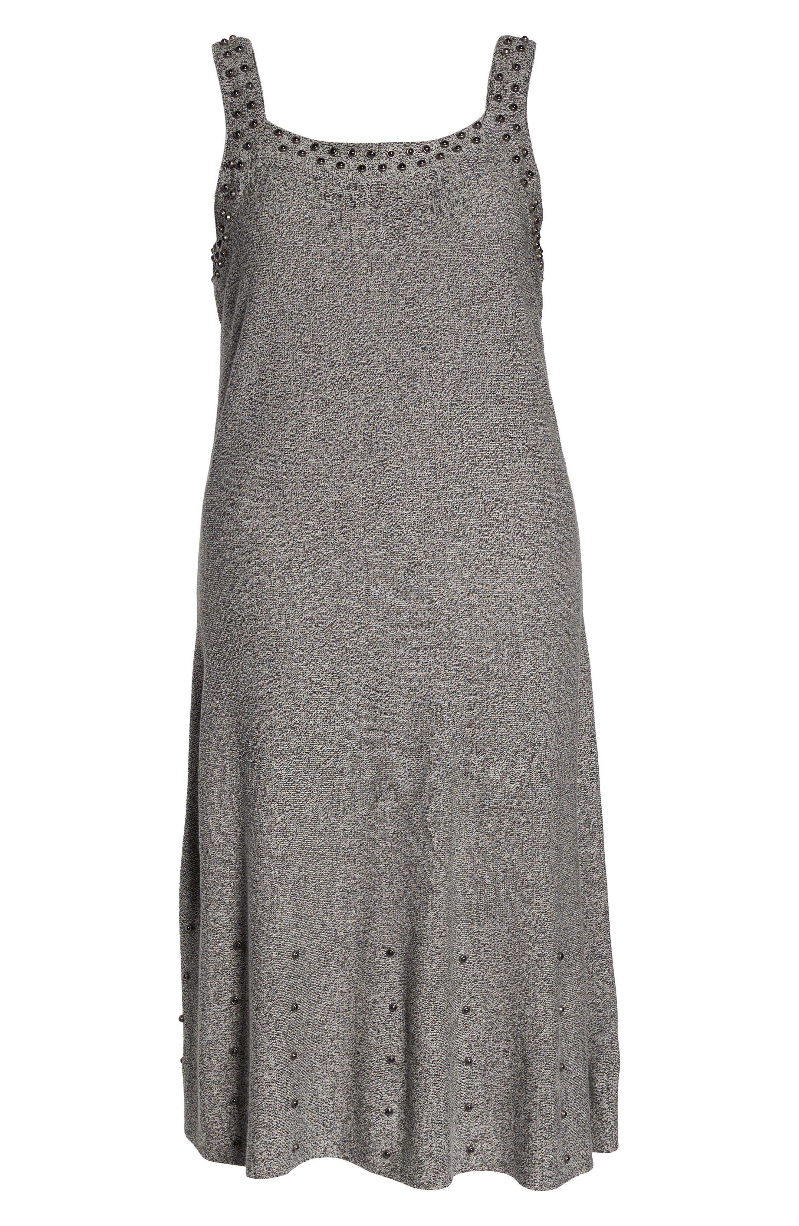 Modern Stud A-Line Dress,                             Alternate thumbnail 6, color,                             062