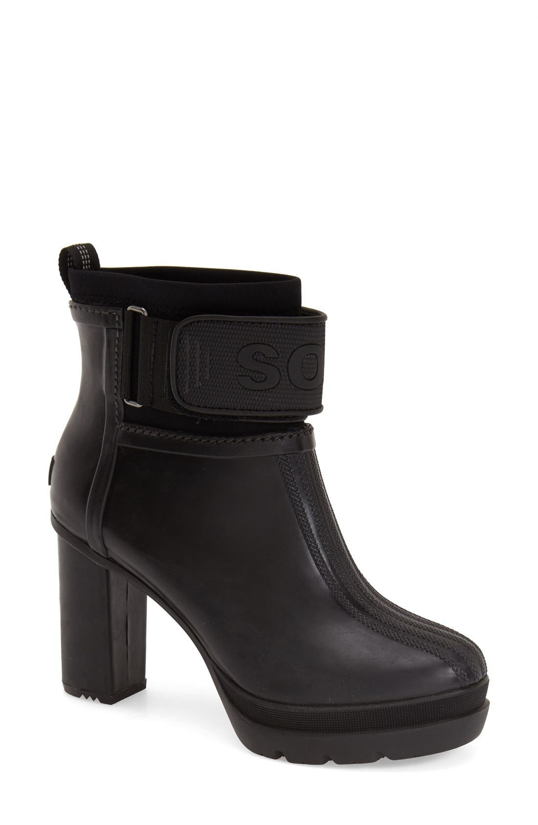 'Medina III' Waterproof Bootie,                             Main thumbnail 1, color,                             010