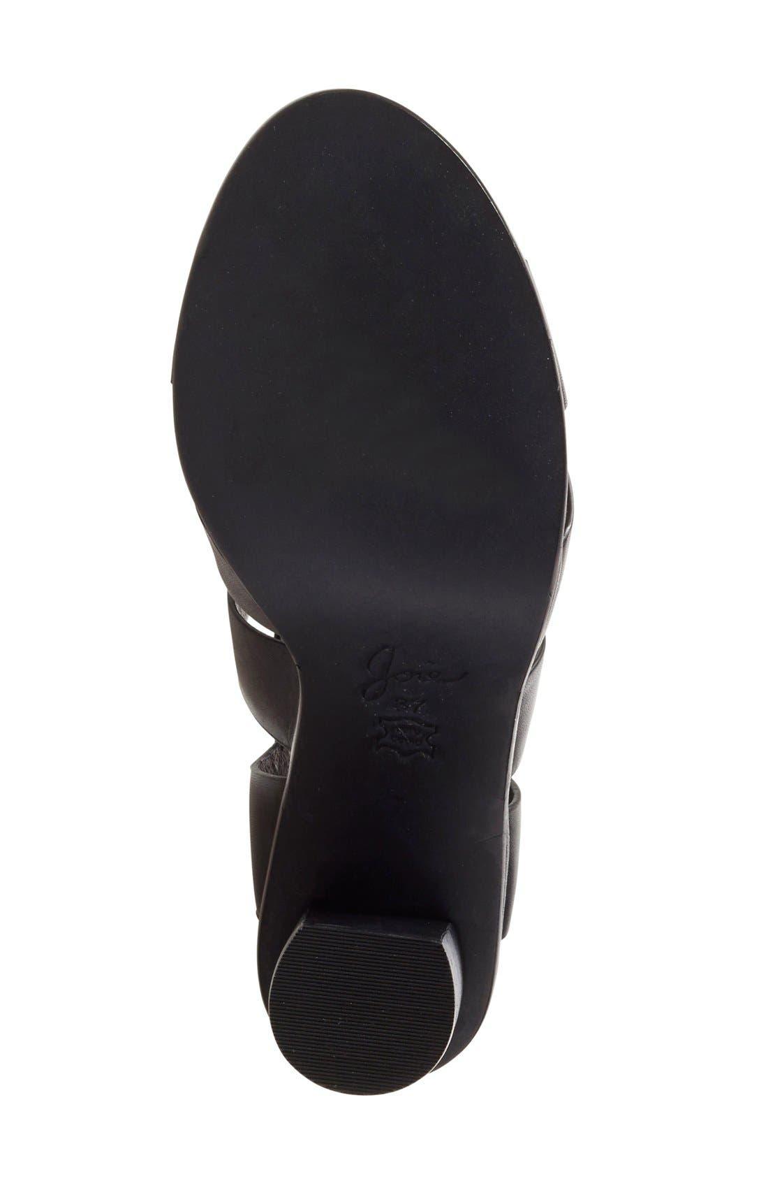 'Avery' Crisscross Block Heel Sandal,                             Alternate thumbnail 4, color,                             002