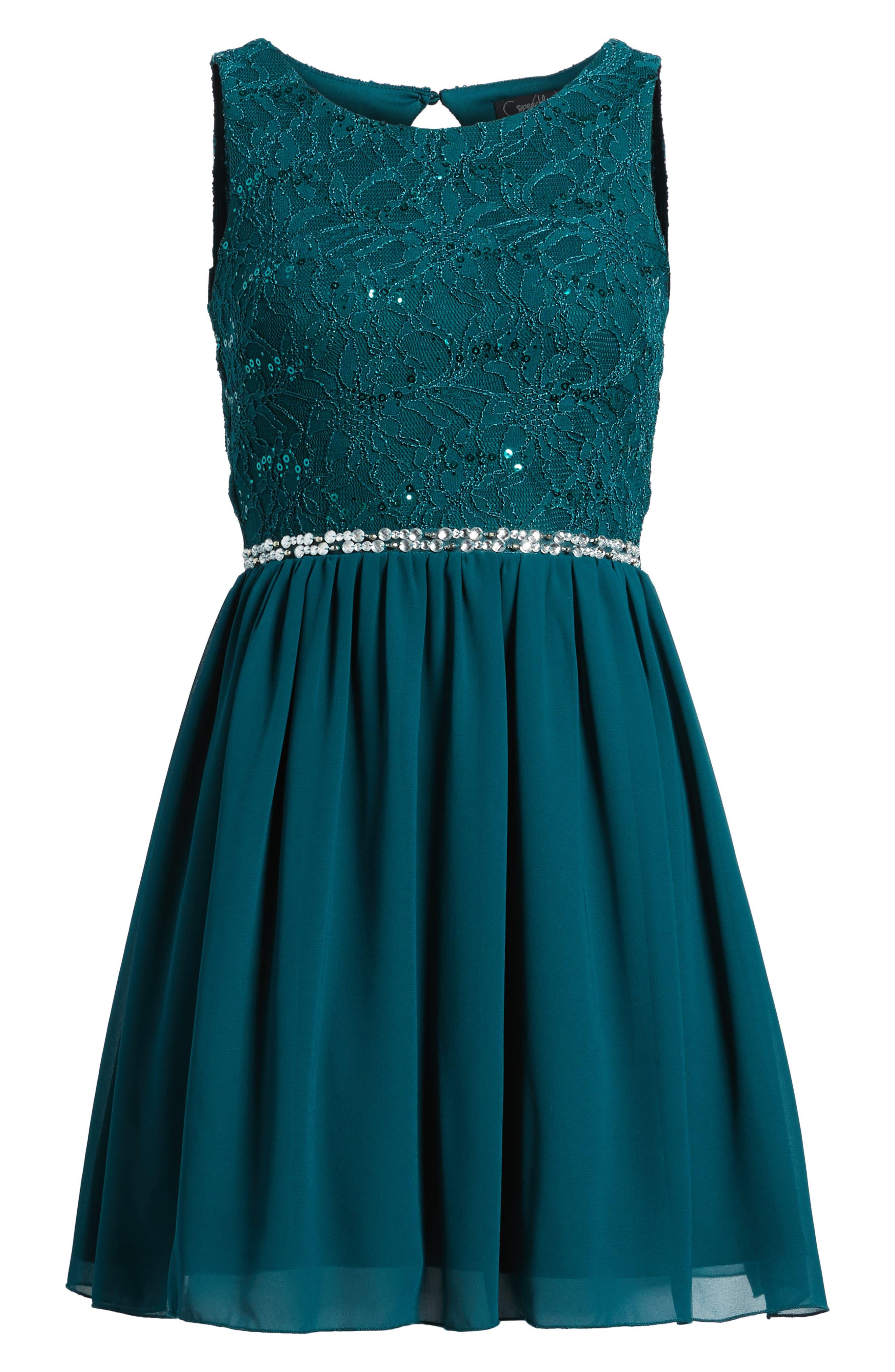 Jeweled Belt Dress,                             Alternate thumbnail 11, color,