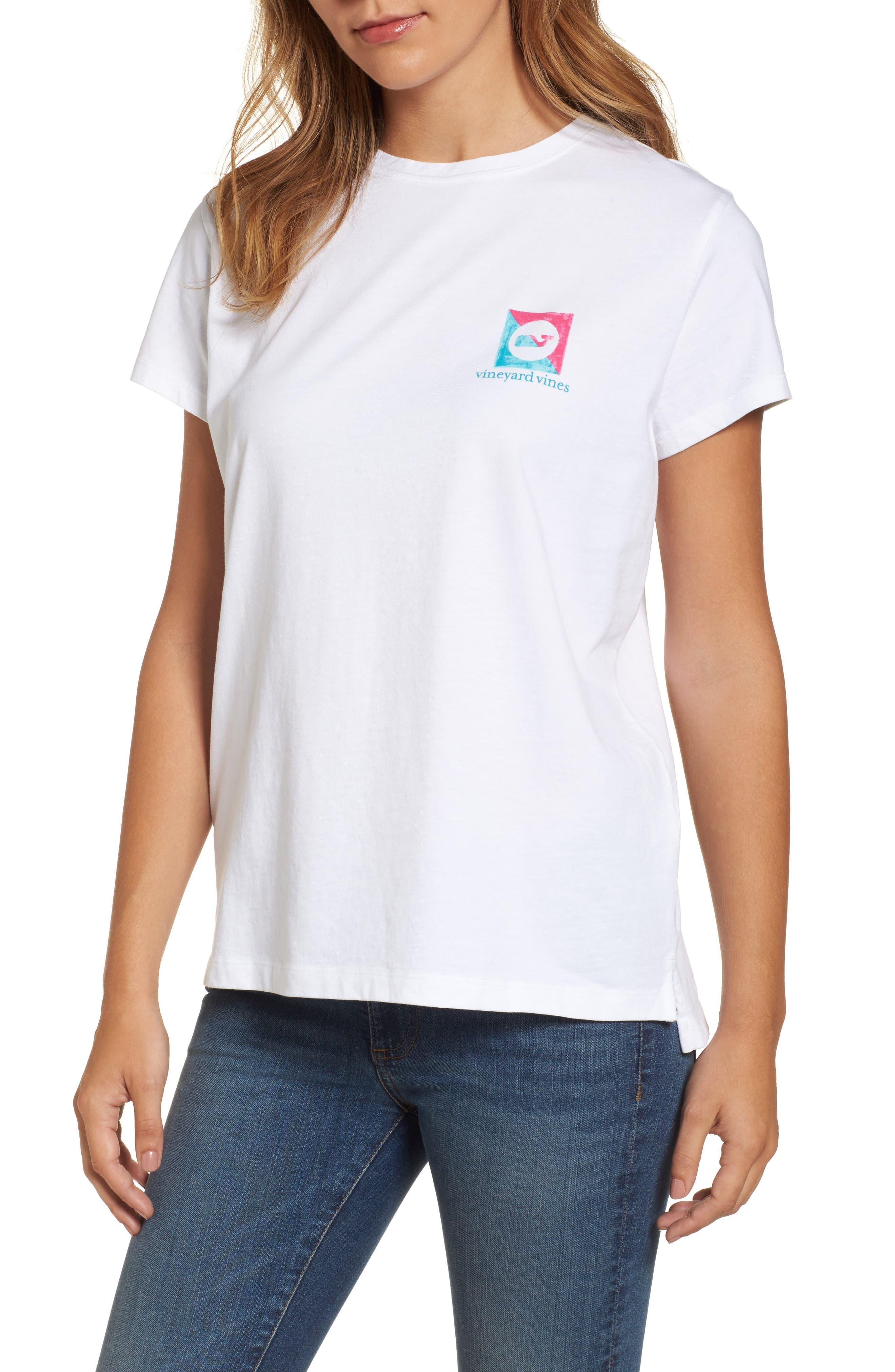 Painted Burgee Graphic Tee,                         Main,                         color, 100