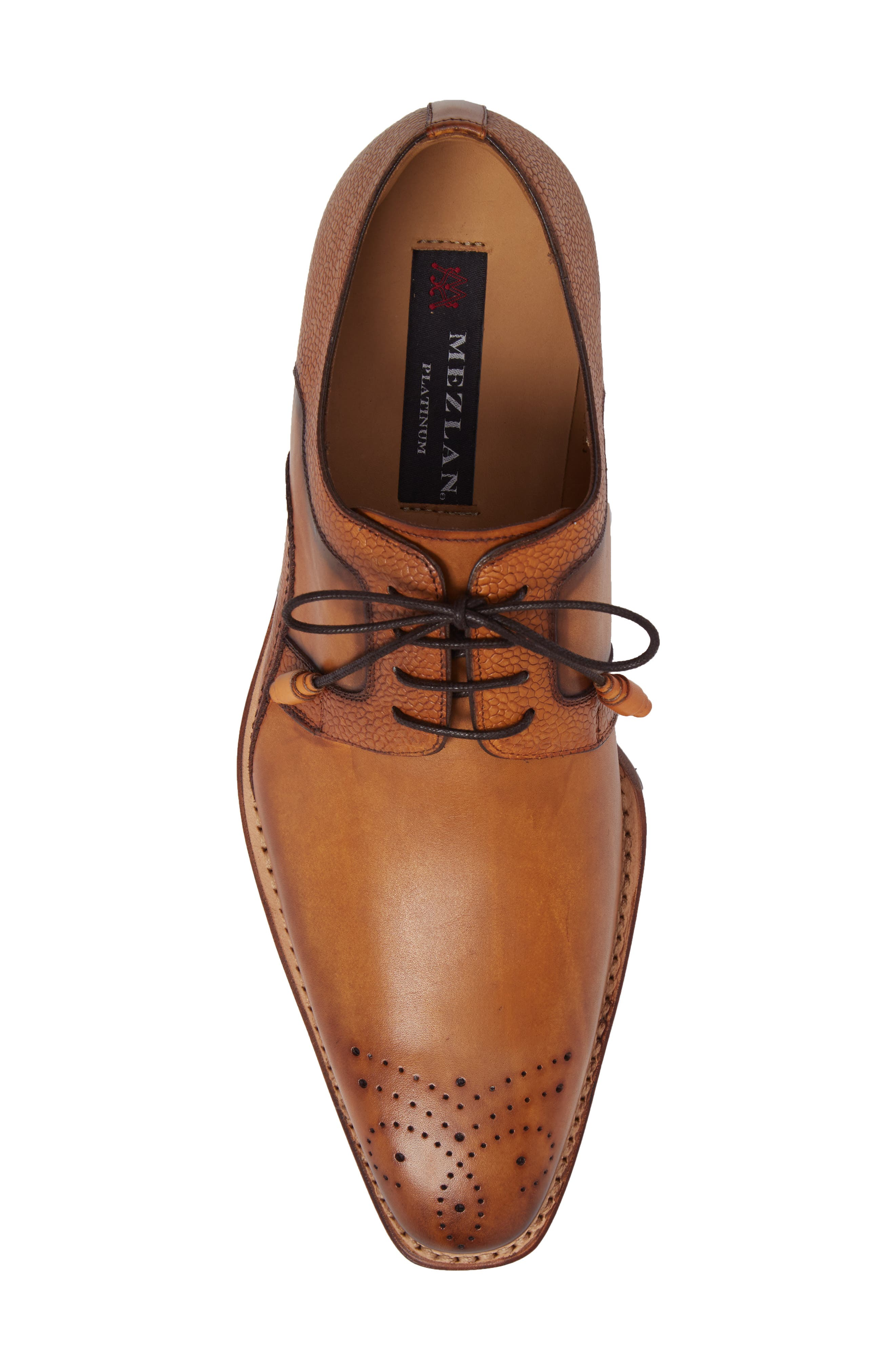 Saturno Medallion Toe Derby,                             Alternate thumbnail 5, color,                             TAN LEATHER