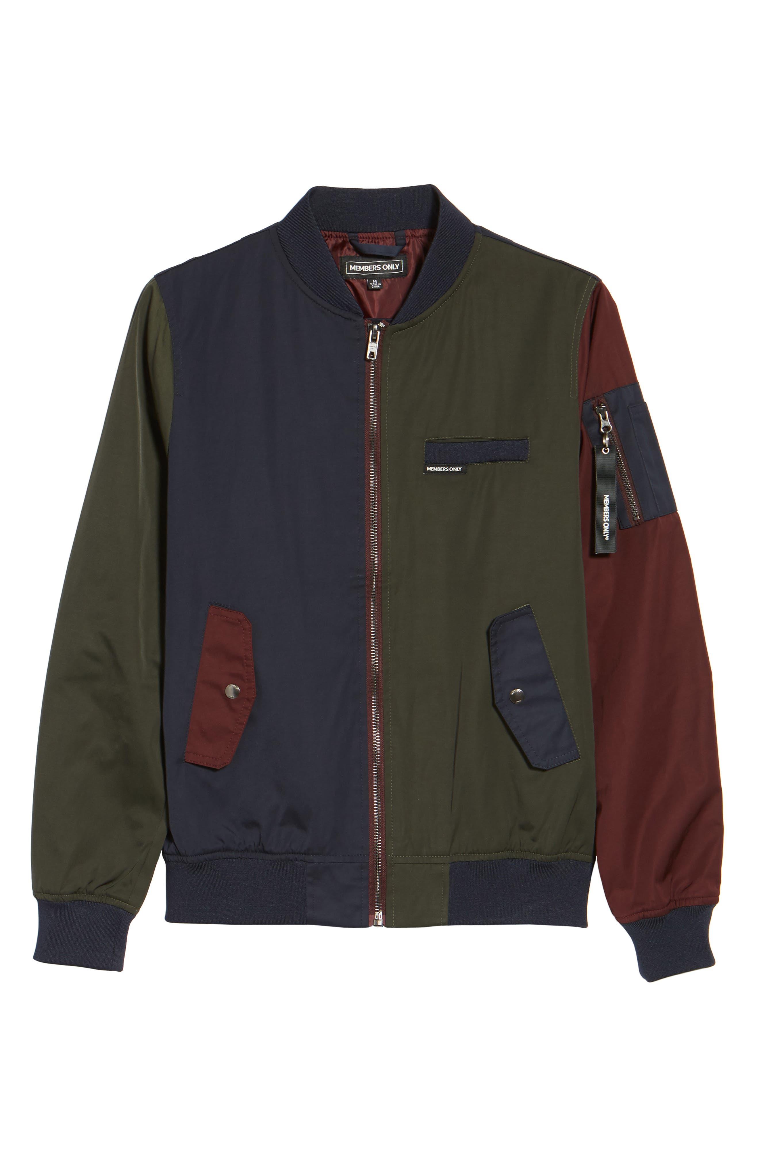 Colorblock Bomber Jacket,                             Alternate thumbnail 5, color,                             400