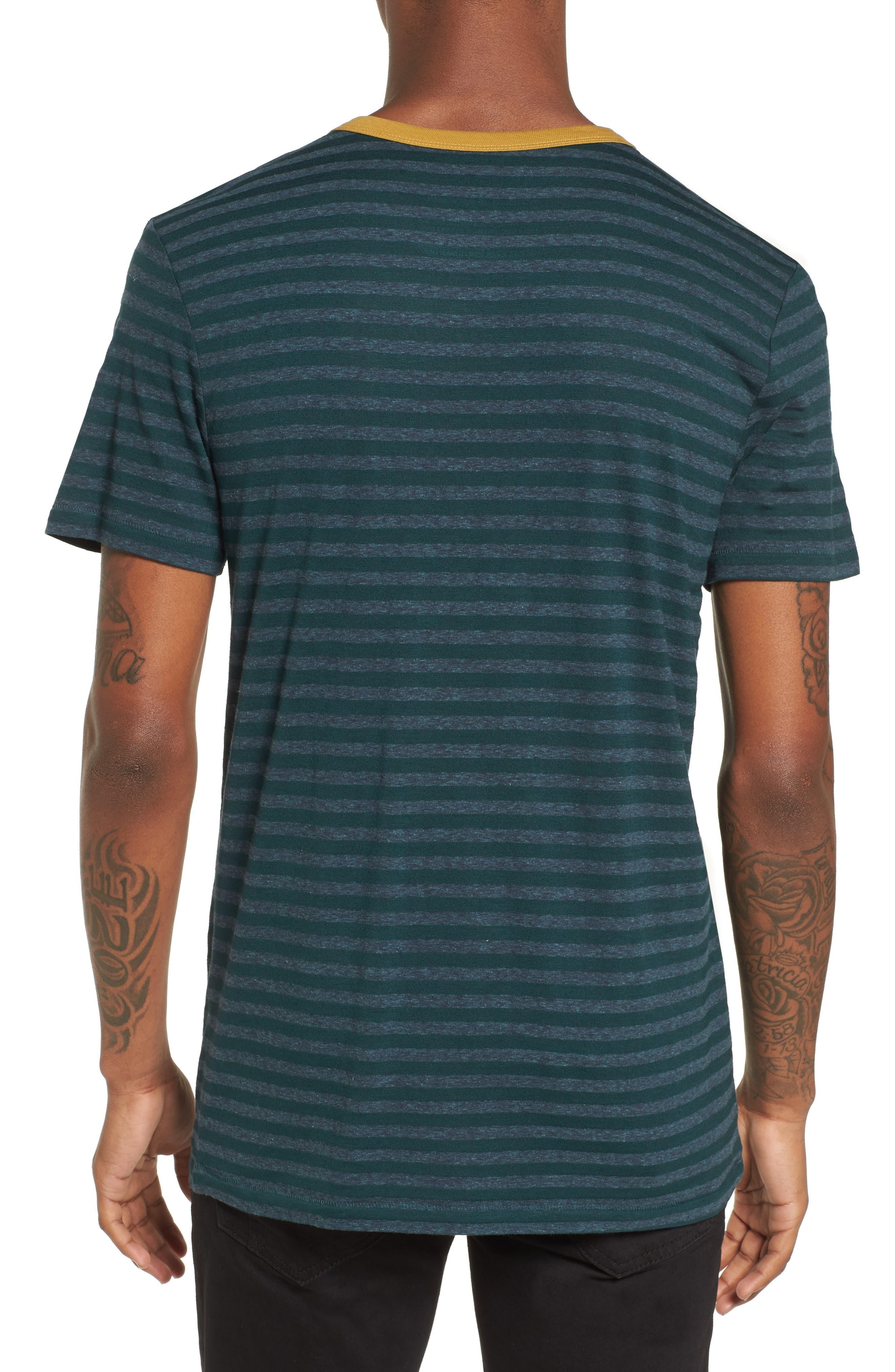 Stripe Ringer T-Shirt,                             Alternate thumbnail 2, color,