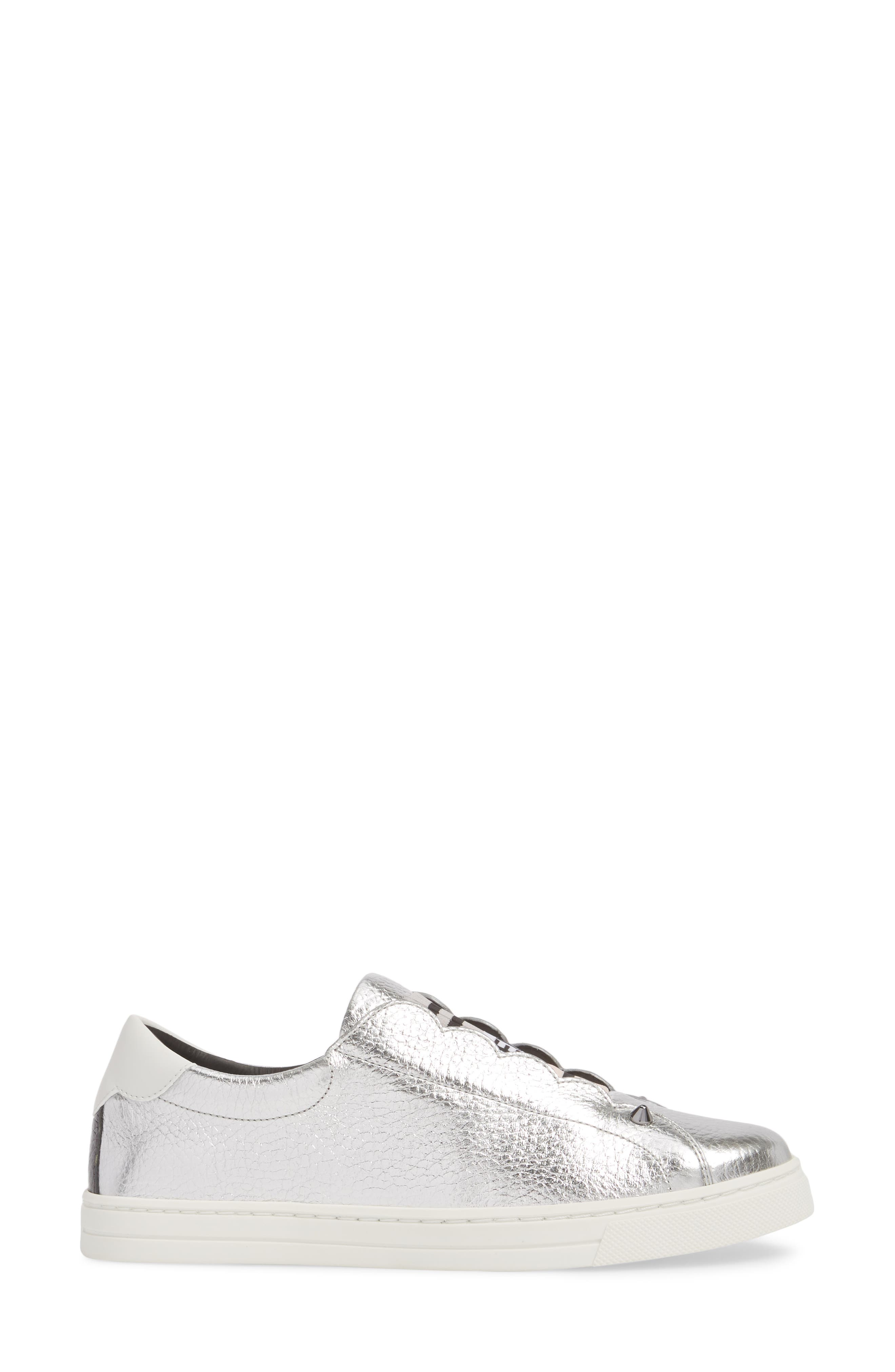 Rockono Slip-On Sneaker,                             Alternate thumbnail 3, color,                             SILVER