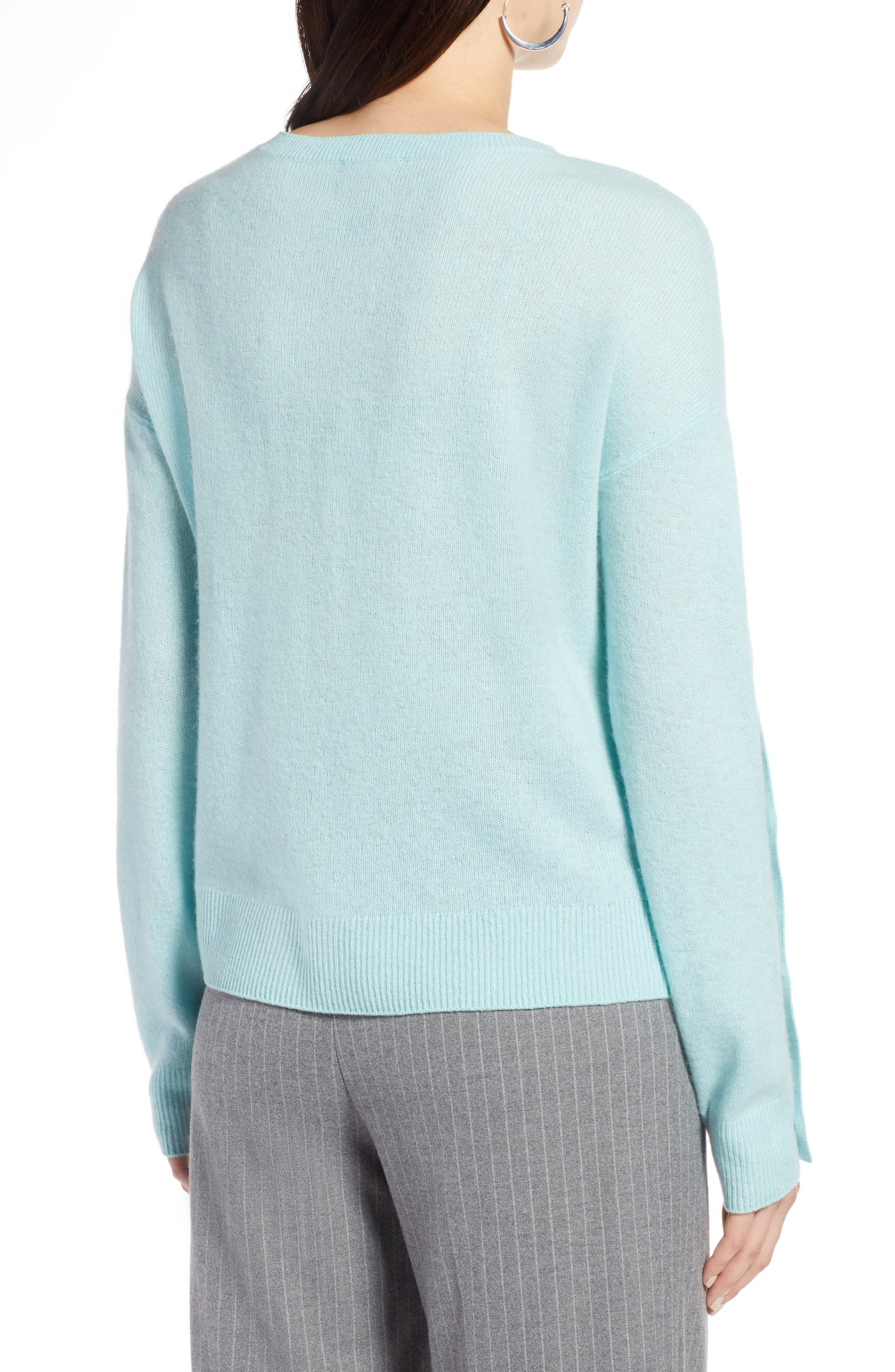 Cashmere Button Sleeve Sweater,                             Alternate thumbnail 2, color,                             450