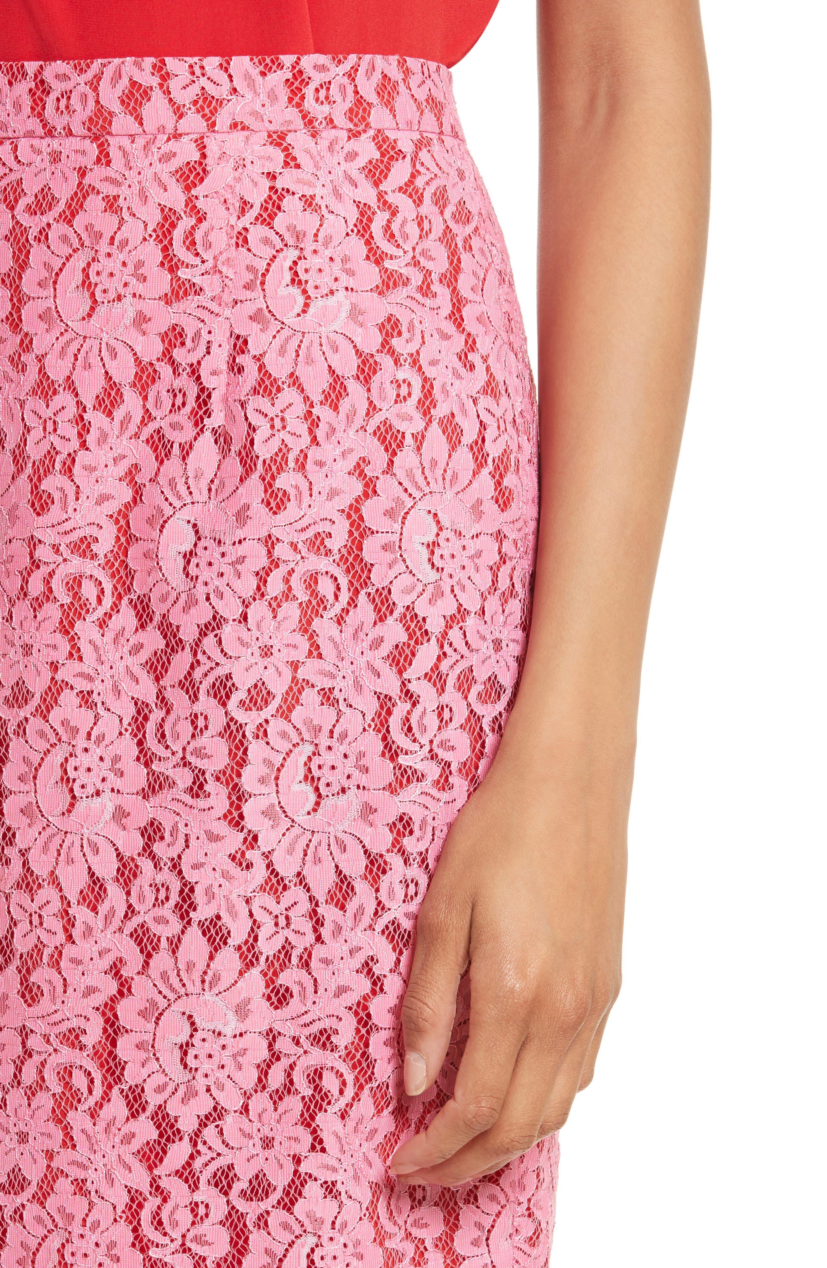 Lace Pencil Skirt,                             Alternate thumbnail 4, color,                             683