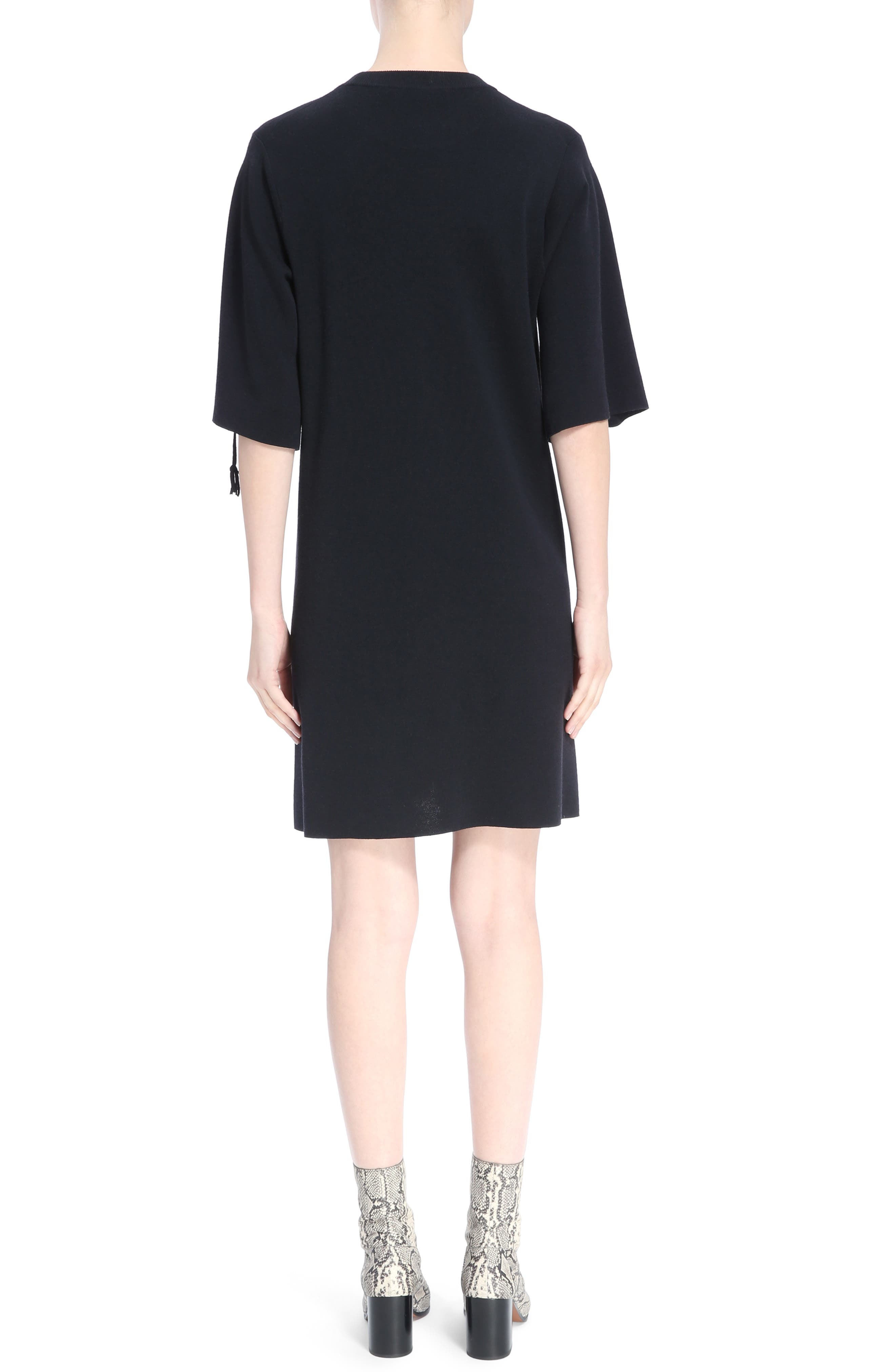 Laced Grommet Wool Dress,                             Alternate thumbnail 2, color,                             410