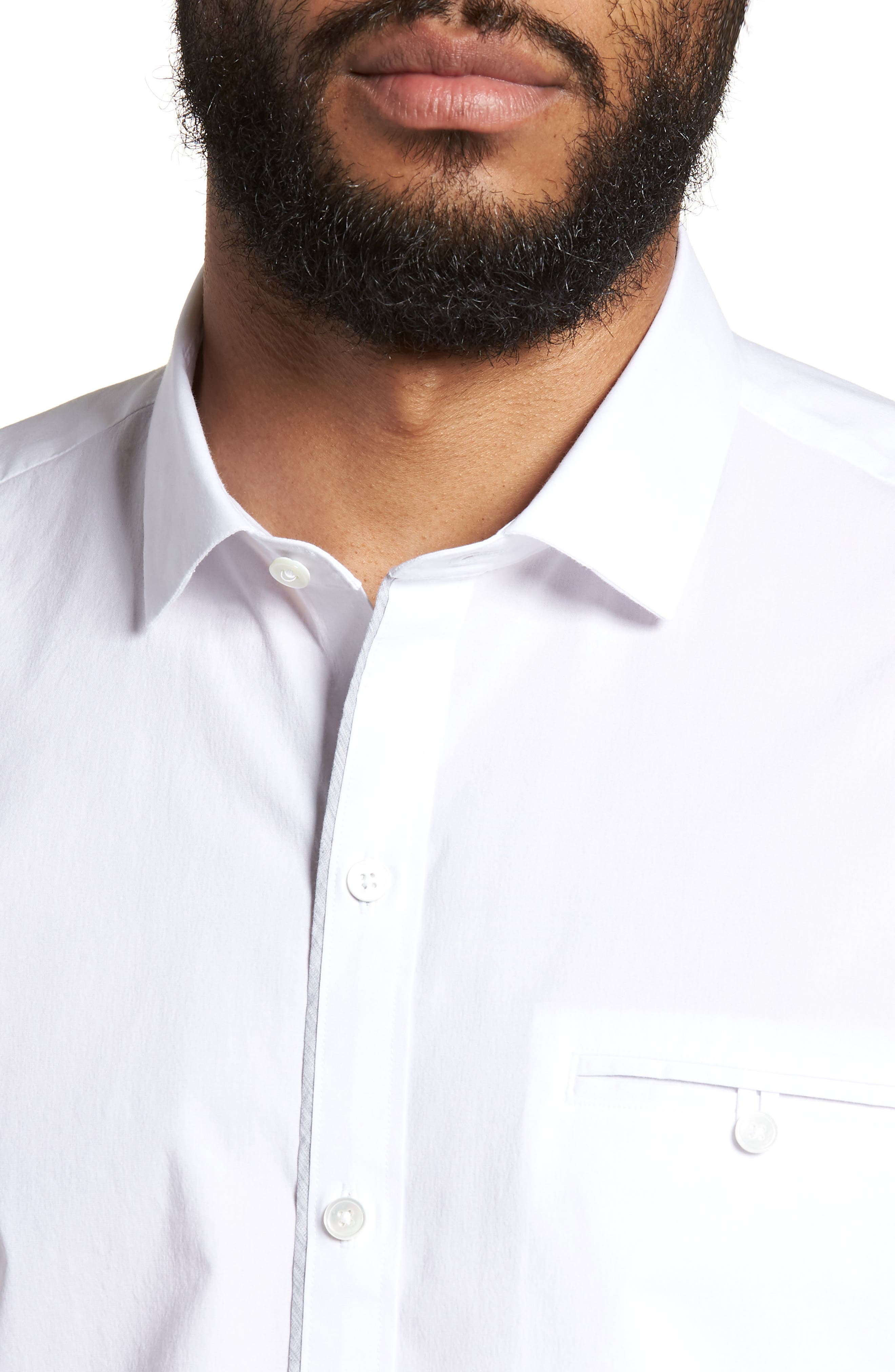 Baumann Slim Fit Sport Shirt,                             Alternate thumbnail 4, color,                             100