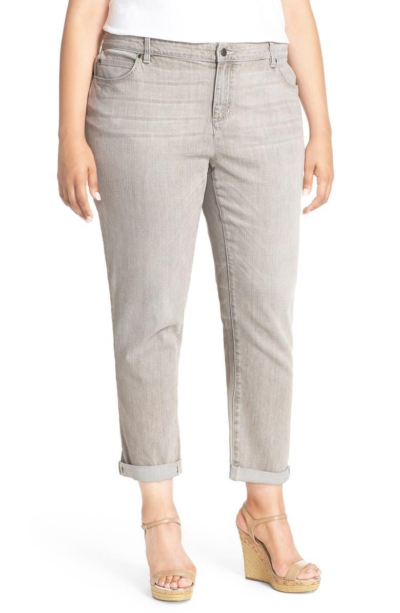696acb81a23ad Eileen Fisher Stretch Organic Cotton Boyfriend Jeans (Vintage Grey ...