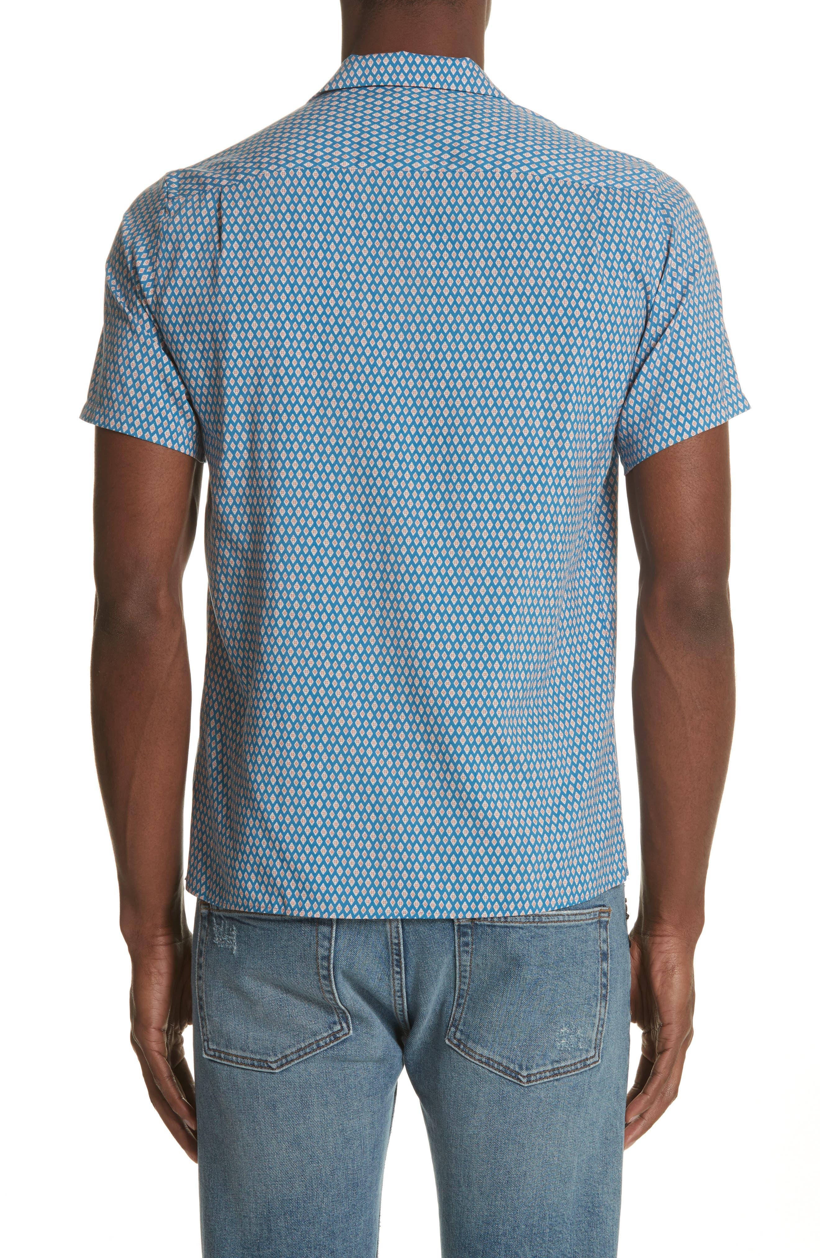 Diamond Print Camp Shirt,                             Alternate thumbnail 2, color,                             400